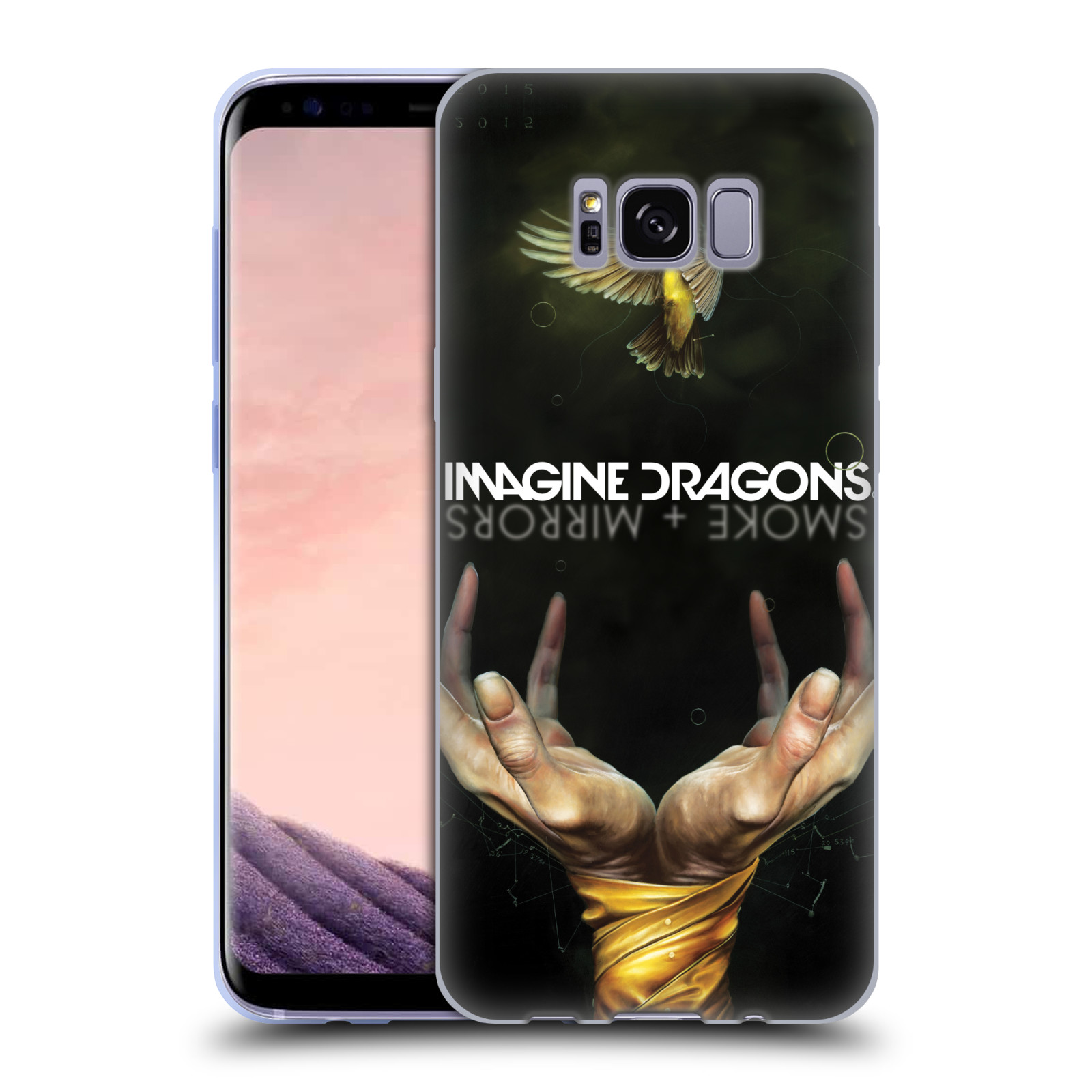 HEAD CASE silikonový obal na mobil Samsung Galaxy S8 hudební skupina Imagine Dragons SMOKE and MIRRORS