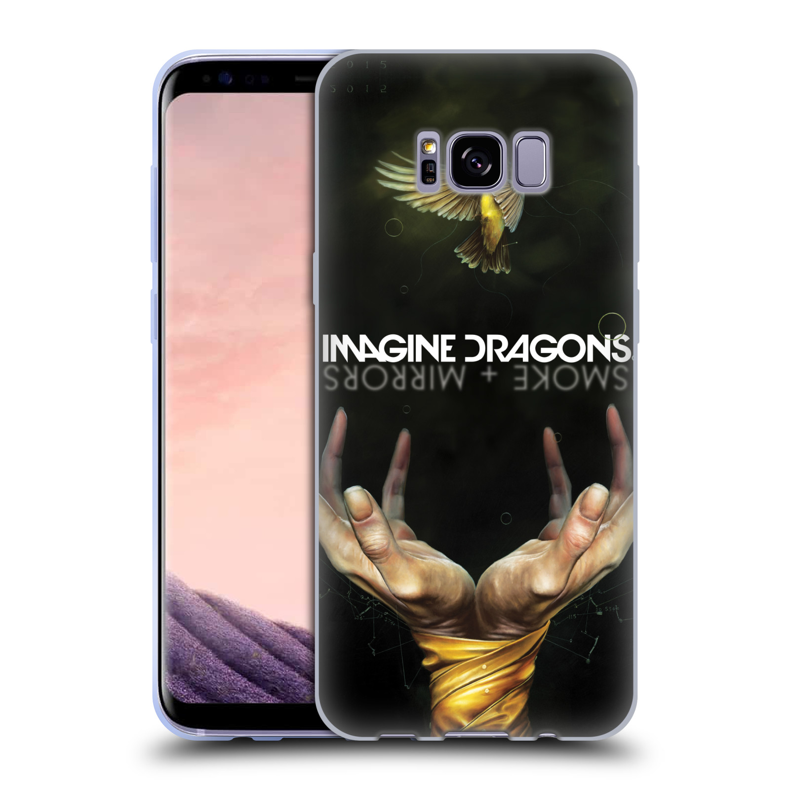 HEAD CASE silikonový obal na mobil Samsung Galaxy S8 PLUS hudební skupina Imagine Dragons SMOKE and MIRRORS