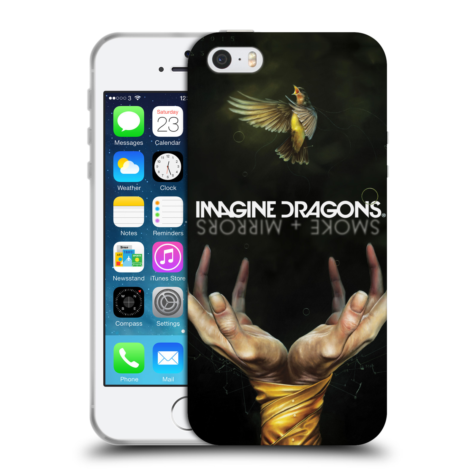 HEAD CASE silikonový obal na mobil Apple Iphone 5/5S hudební skupina Imagine Dragons SMOKE and MIRRORS