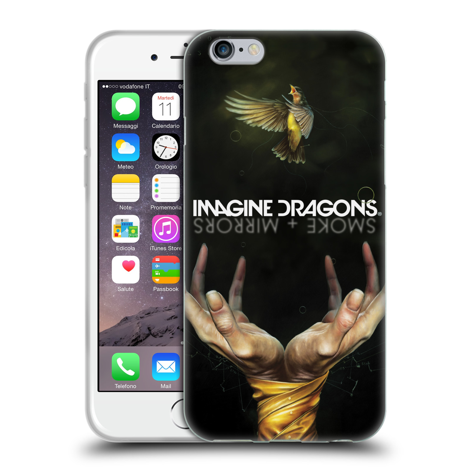HEAD CASE silikonový obal na mobil Apple Iphone 6/6S hudební skupina Imagine Dragons SMOKE and MIRRORS