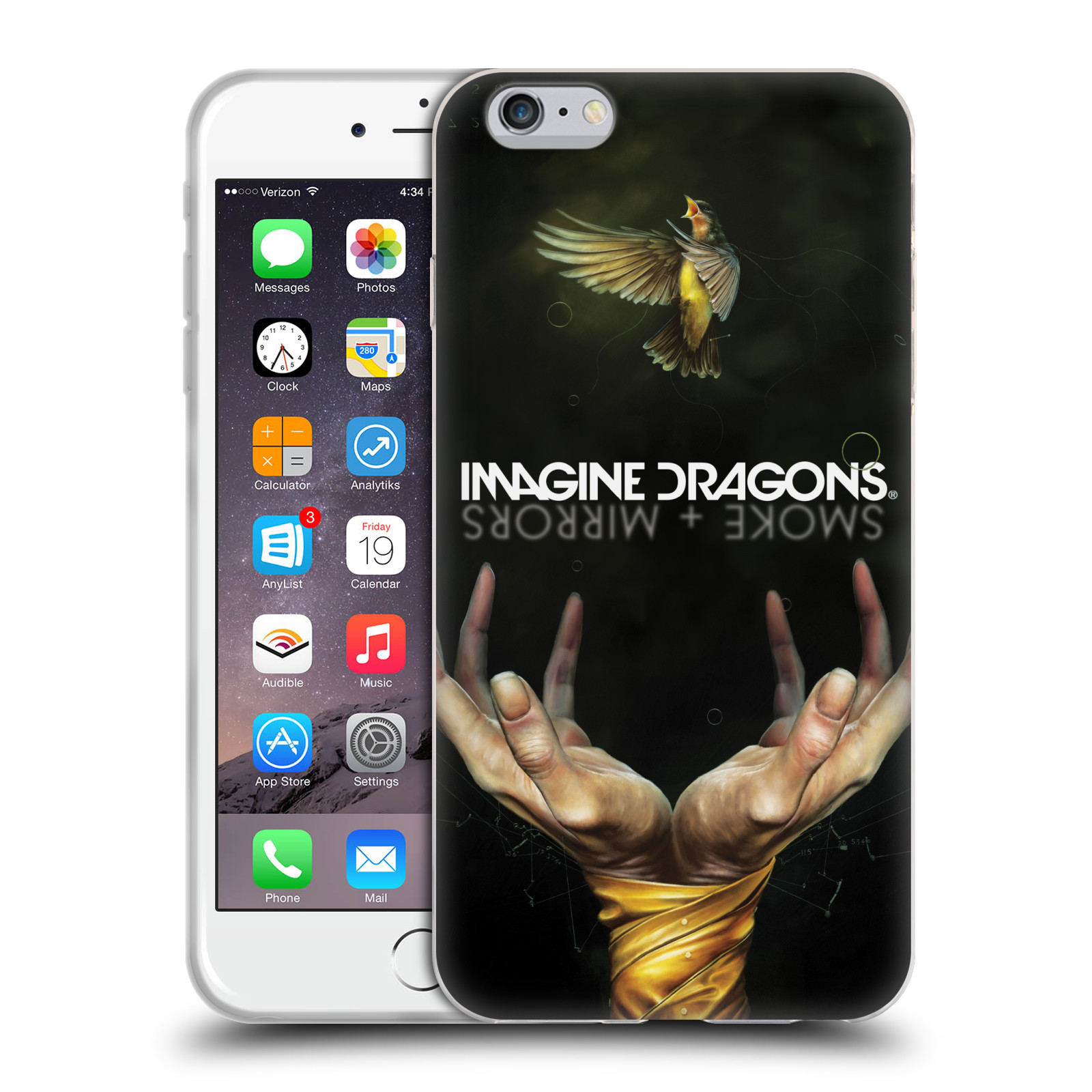 HEAD CASE silikonový obal na mobil Apple Iphone 6/6S PLUS hudební skupina Imagine Dragons SMOKE and MIRRORS