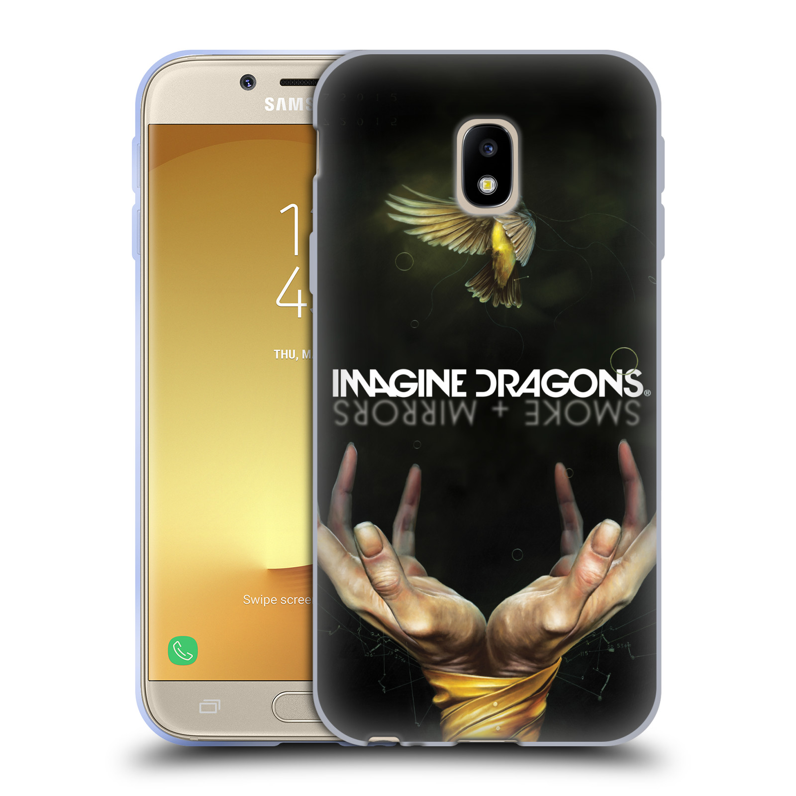 HEAD CASE silikonový obal na mobil Samsung Galaxy J3 2017 (J330, J330F) hudební skupina Imagine Dragons SMOKE and MIRRORS