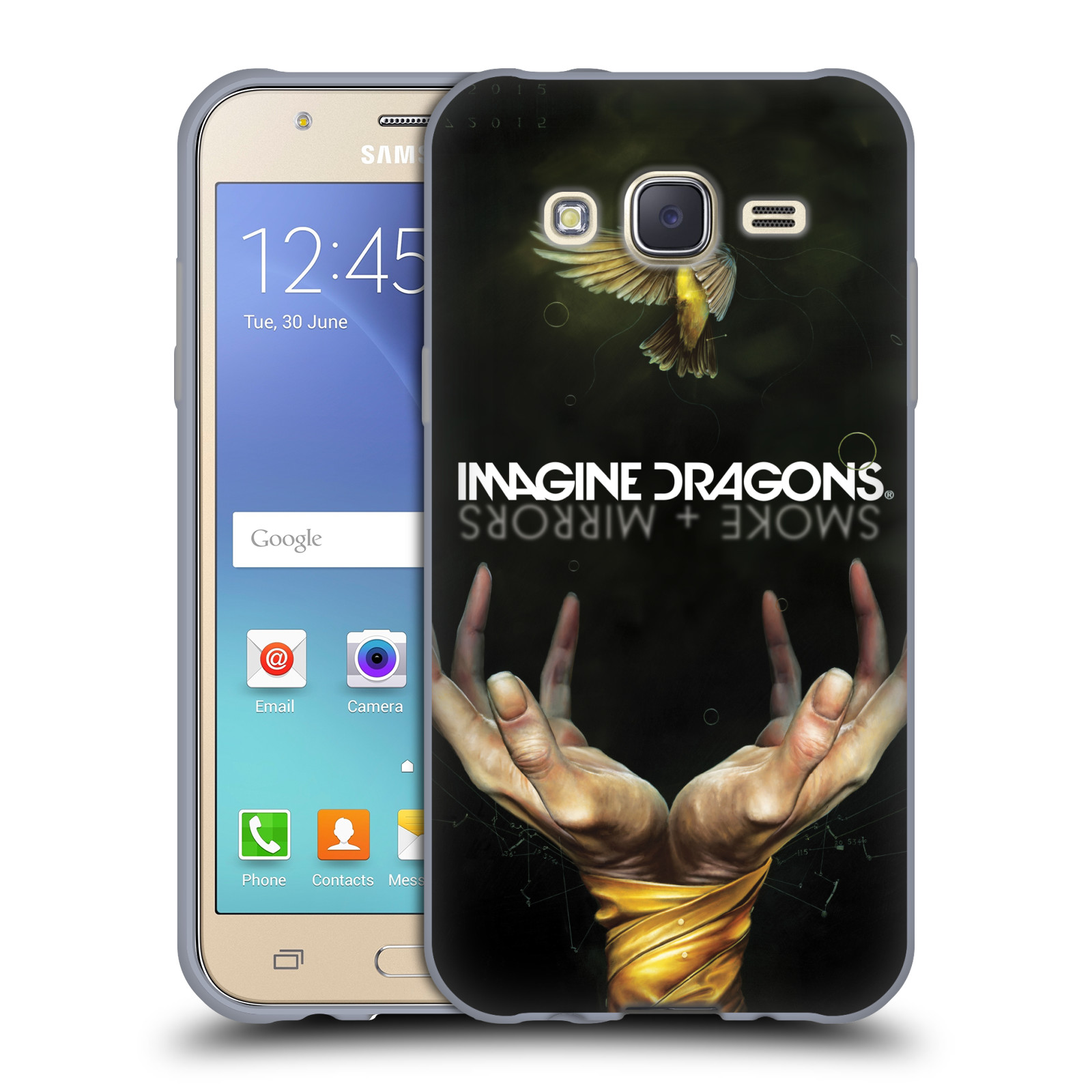 HEAD CASE silikonový obal na mobil Samsung Galaxy J5 2015 (J500) hudební skupina Imagine Dragons SMOKE and MIRRORS