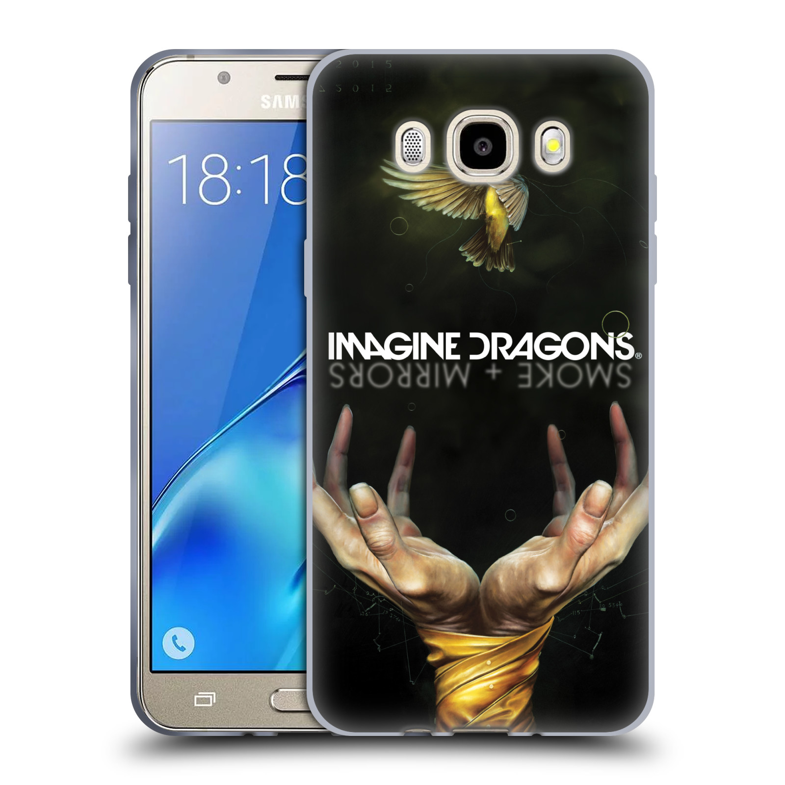 HEAD CASE silikonový obal na mobil Samsung Galaxy J5 2016 (J510) hudební skupina Imagine Dragons SMOKE and MIRRORS