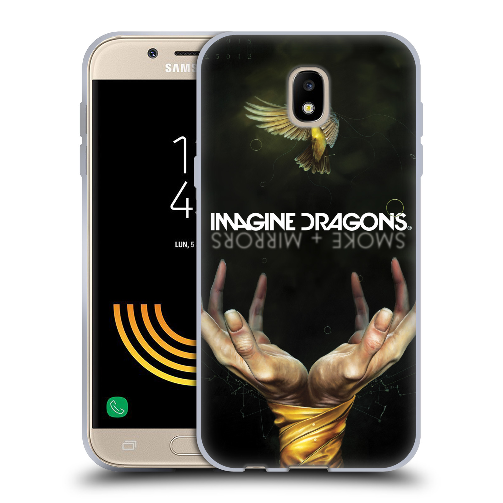 HEAD CASE silikonový obal na mobil Samsung Galaxy J5 2017 hudební skupina Imagine Dragons SMOKE and MIRRORS