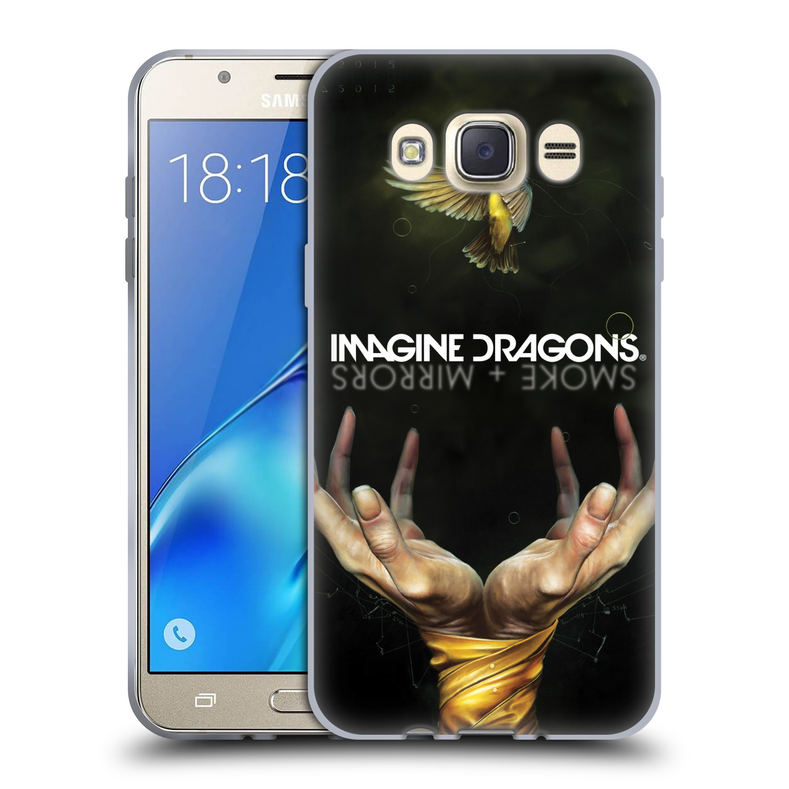 HEAD CASE silikonový obal na mobil Samsung Galaxy J7 2016 hudební skupina Imagine Dragons SMOKE and MIRRORS