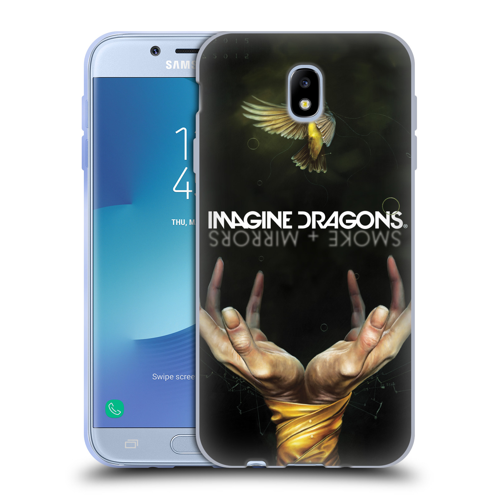 HEAD CASE silikonový obal na mobil Samsung Galaxy J7 2017 hudební skupina Imagine Dragons SMOKE and MIRRORS