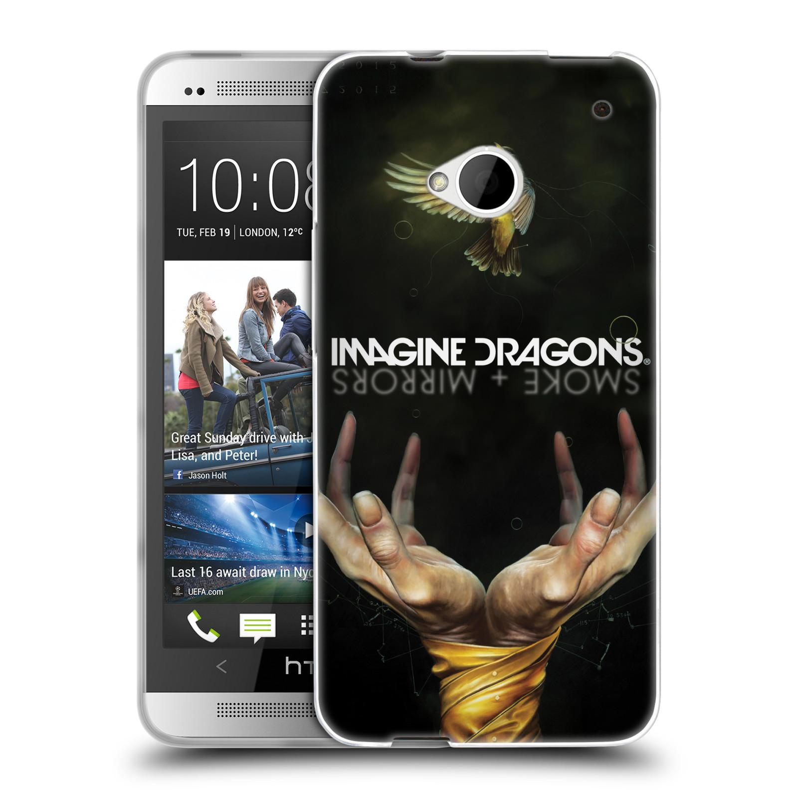 HEAD CASE silikonový obal na mobil HTC one M7 hudební skupina Imagine Dragons SMOKE and MIRRORS