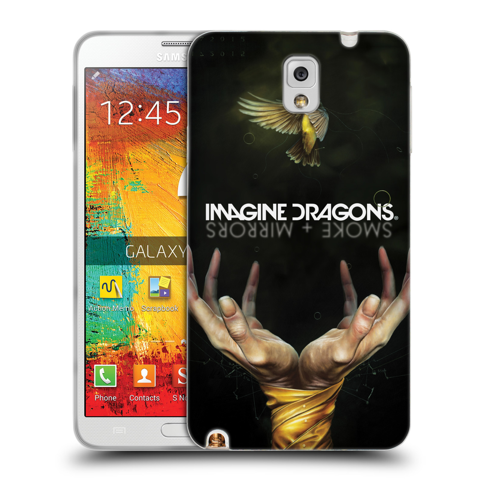 HEAD CASE silikonový obal na mobil Samsung Galaxy Note 3 hudební skupina Imagine Dragons SMOKE and MIRRORS