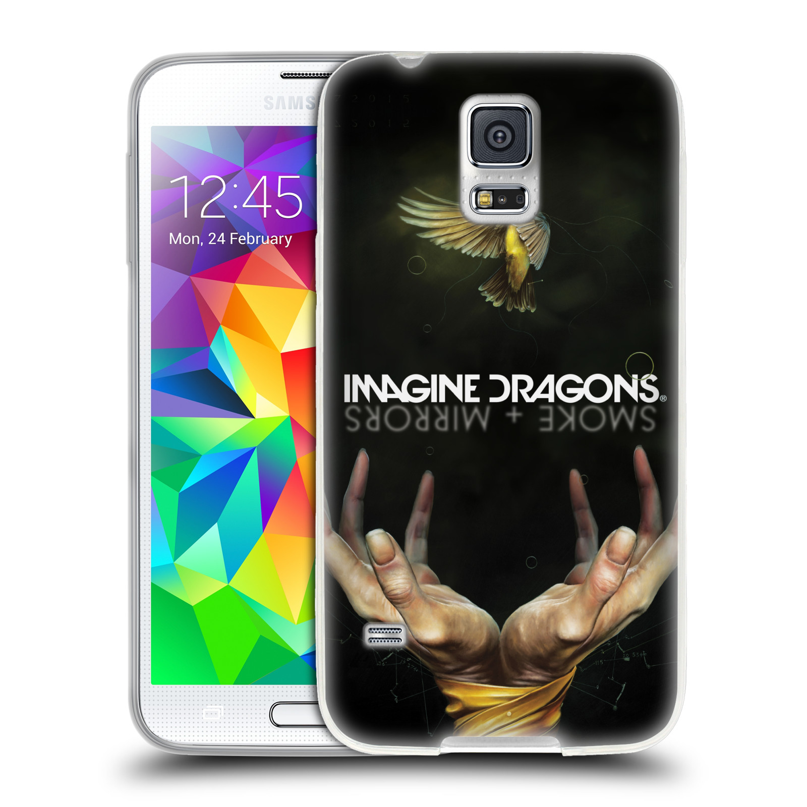 HEAD CASE silikonový obal na mobil Samsung Galaxy S5 hudební skupina Imagine Dragons SMOKE and MIRRORS