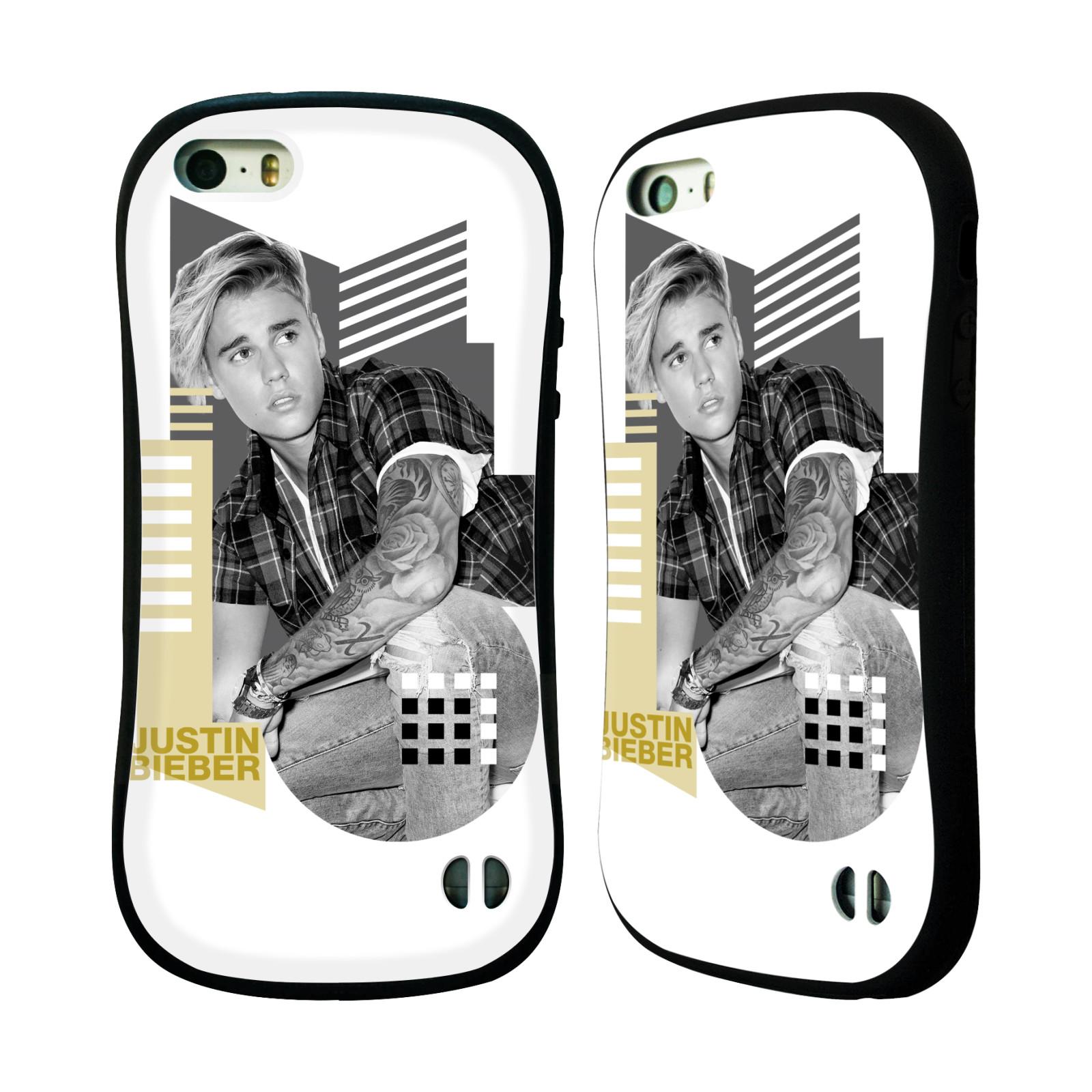HEAD CASE silikon/plast odolný obal na mobil Apple Iphone 5 / 5S originální potisk Justin Bieber tvary foto