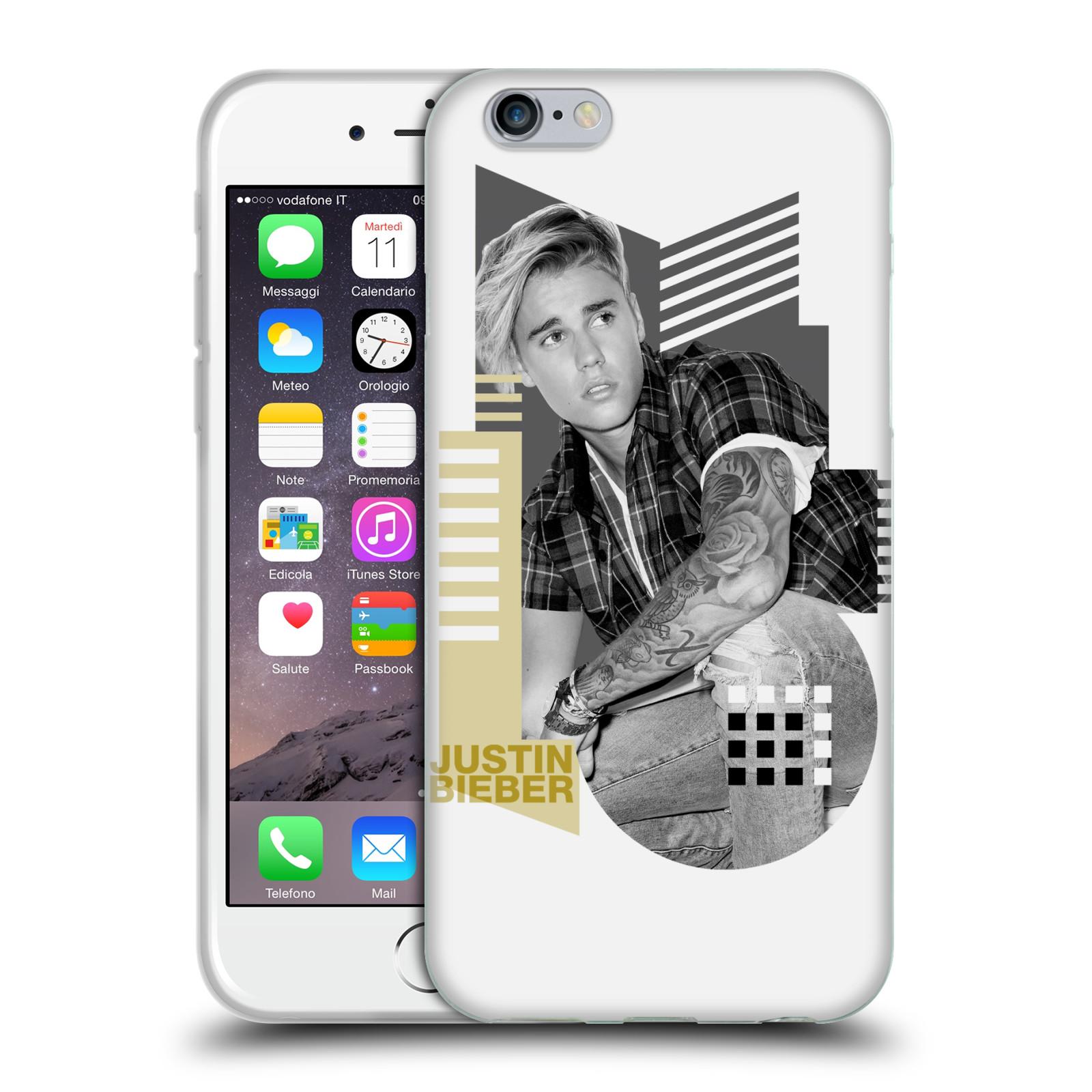 HEAD CASE silikonový obal na mobil Apple Iphone 6 / 6S originální potisk Justin Bieber tvary foto