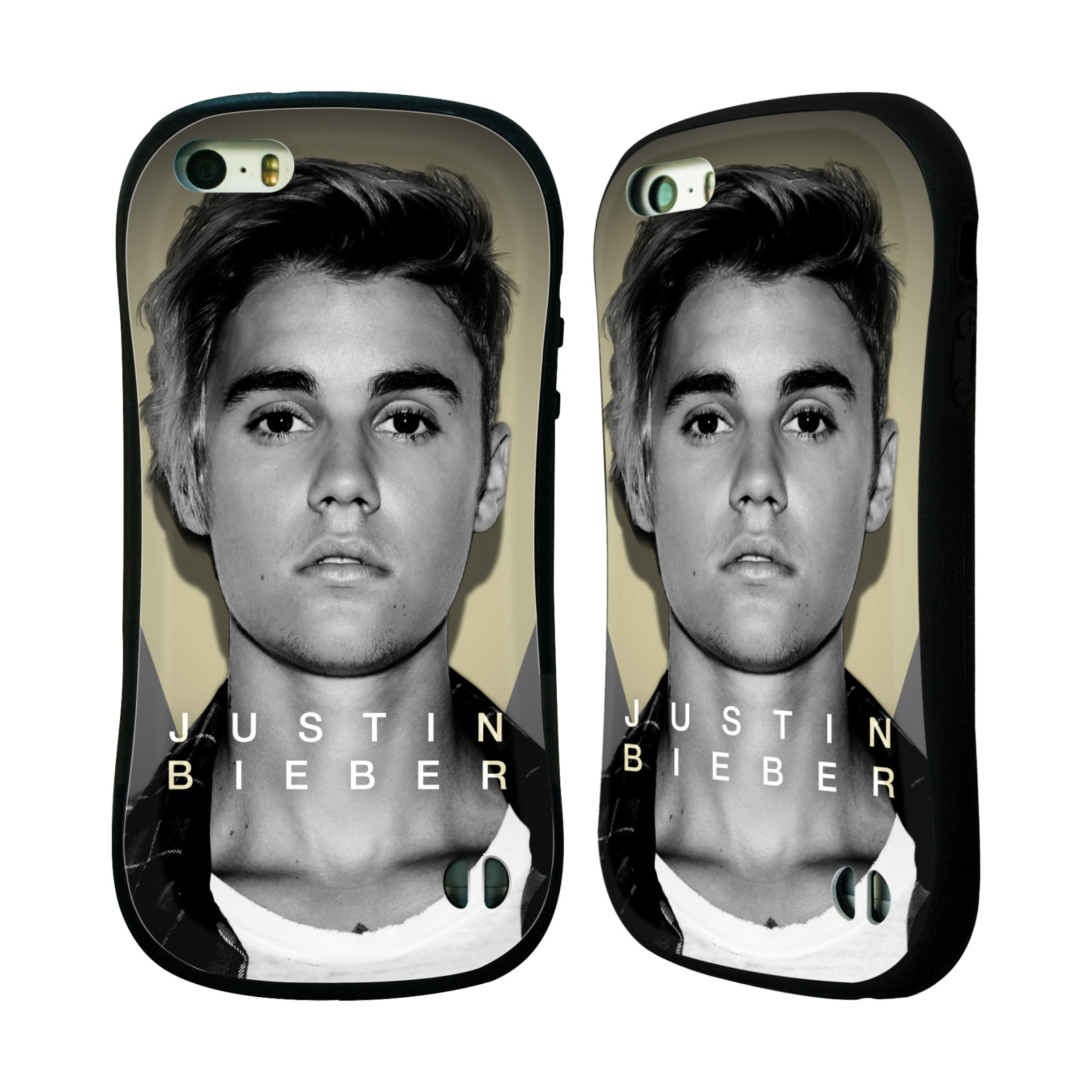 HEAD CASE silikon/plast odolný obal na mobil Apple Iphone 5 / 5S originální potisk Justin Bieber foto portrét