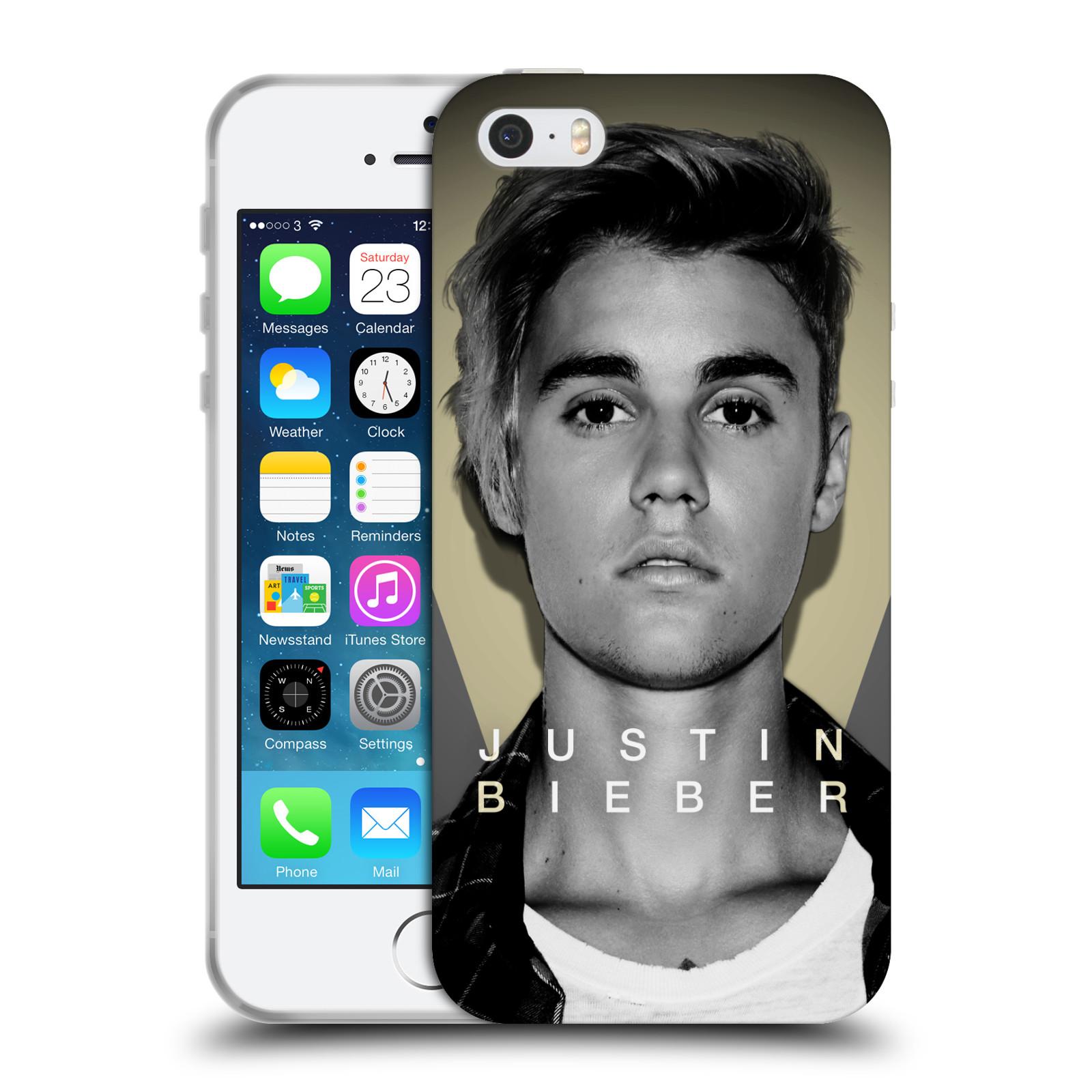 HEAD CASE silikonový obal na mobil Apple Iphone 5 / 5S originální potisk Justin Bieber foto portrét