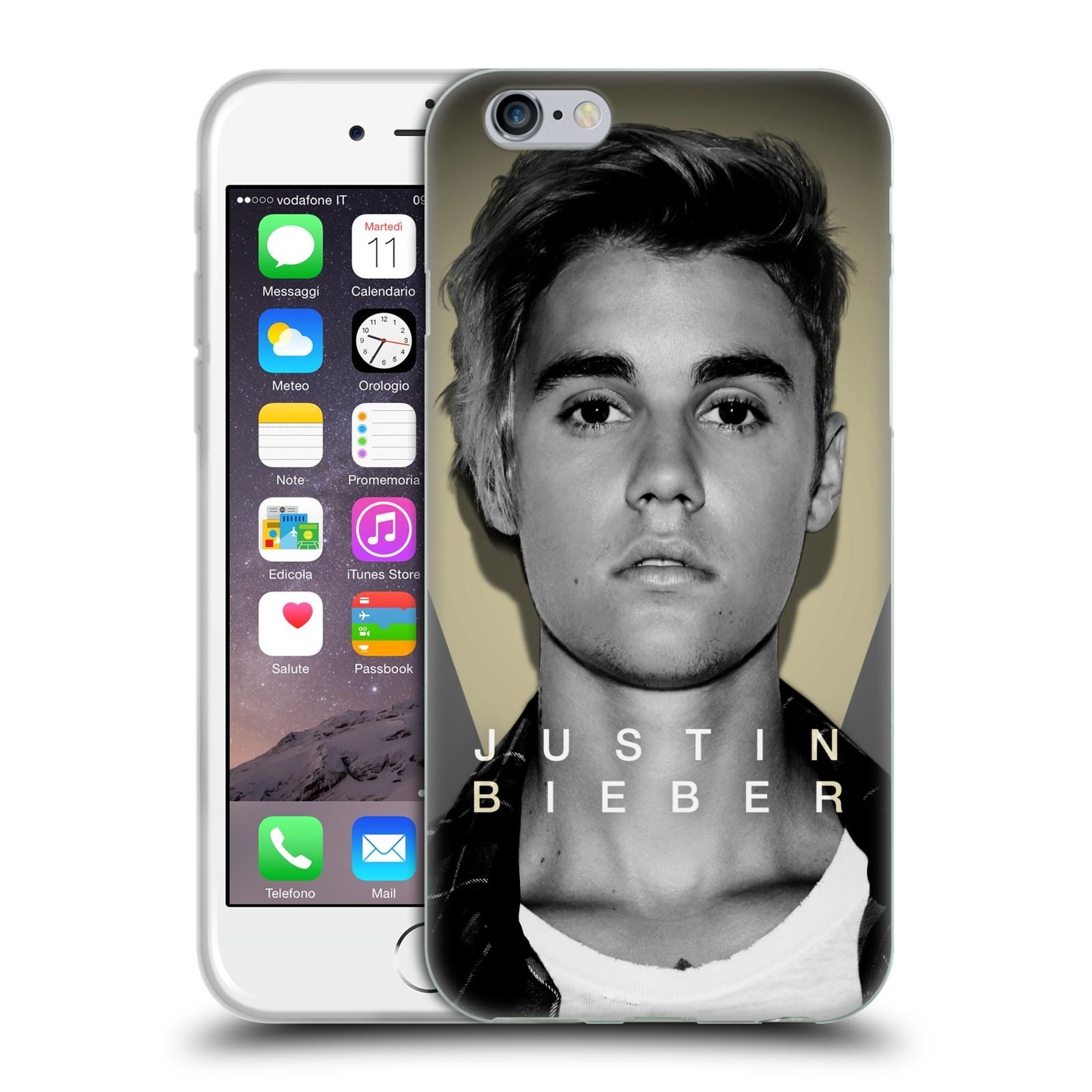HEAD CASE silikonový obal na mobil Apple Iphone 6 / 6S originální potisk Justin Bieber foto portrét
