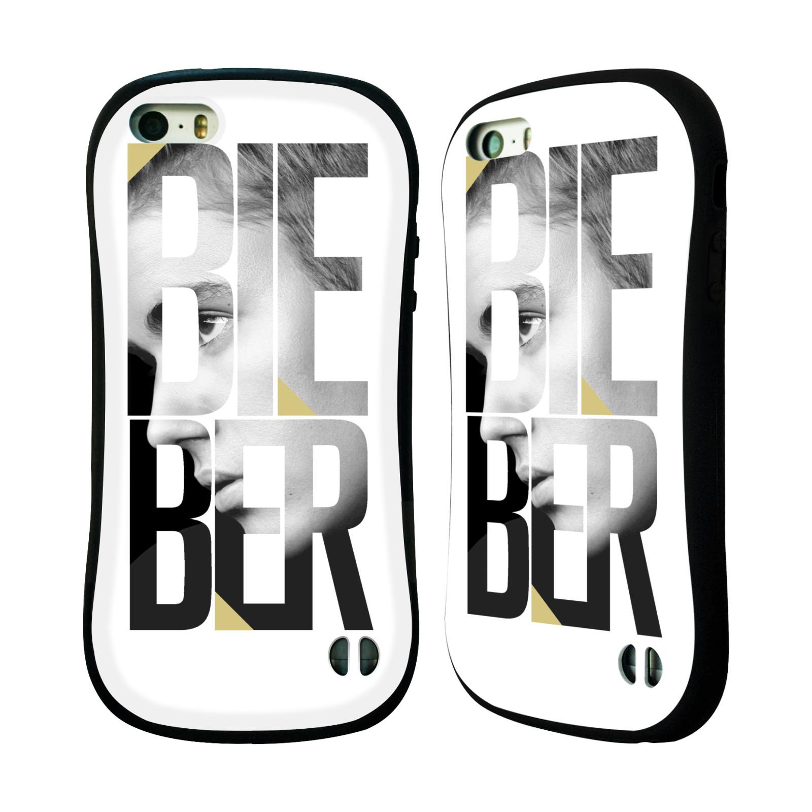 HEAD CASE silikon/plast odolný obal na mobil Apple Iphone 5 / 5S originální potisk Justin Bieber nadpis fotka