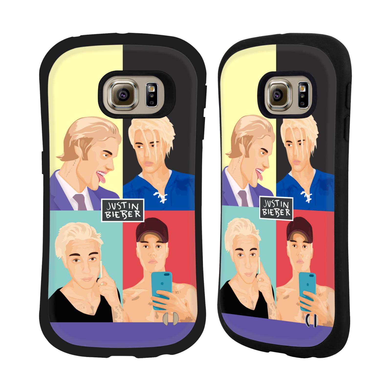 HEAD CASE odolný obal na mobil Samsung Galaxy S6 EDGE Justin Bieber kreslená tvář 4 tváře