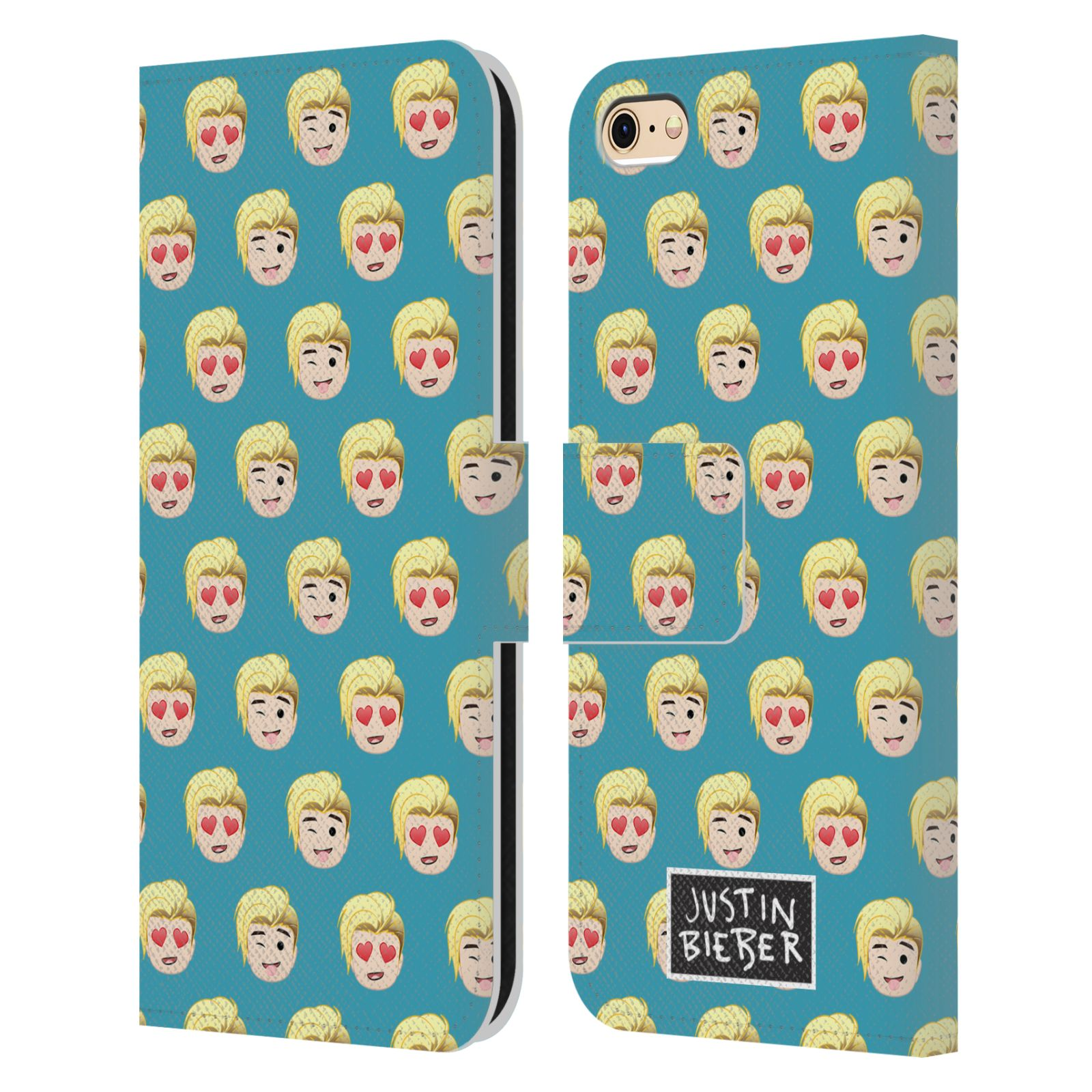OFFICIAL-JUSTIN-BIEBER-JUSTMOJIS-LEATHER-BOOK-CASE-FOR-APPLE-iPHONE-PHONES