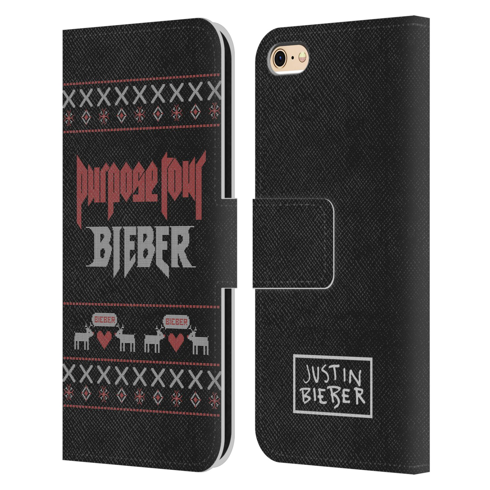 JUSTIN-BIEBER-KNITTED-CHRISTMAS-LEATHER-BOOK-WALLET-CASE-FOR-APPLE-iPHONE-PHONES