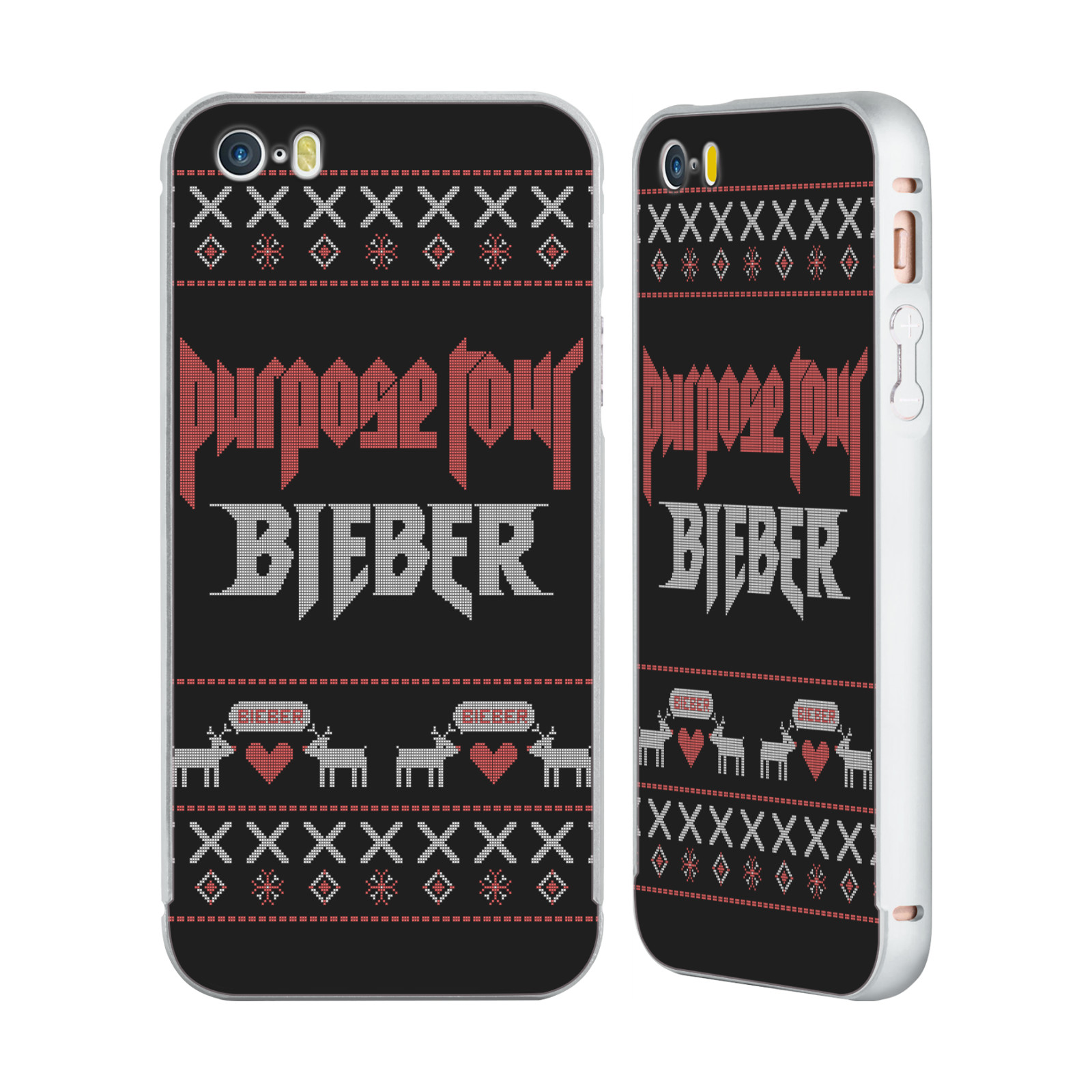 JUSTIN-BIEBER-KNITTED-CHRISTMAS-SILVER-SLIDER-CASE-FOR-APPLE-iPHONE-PHONES