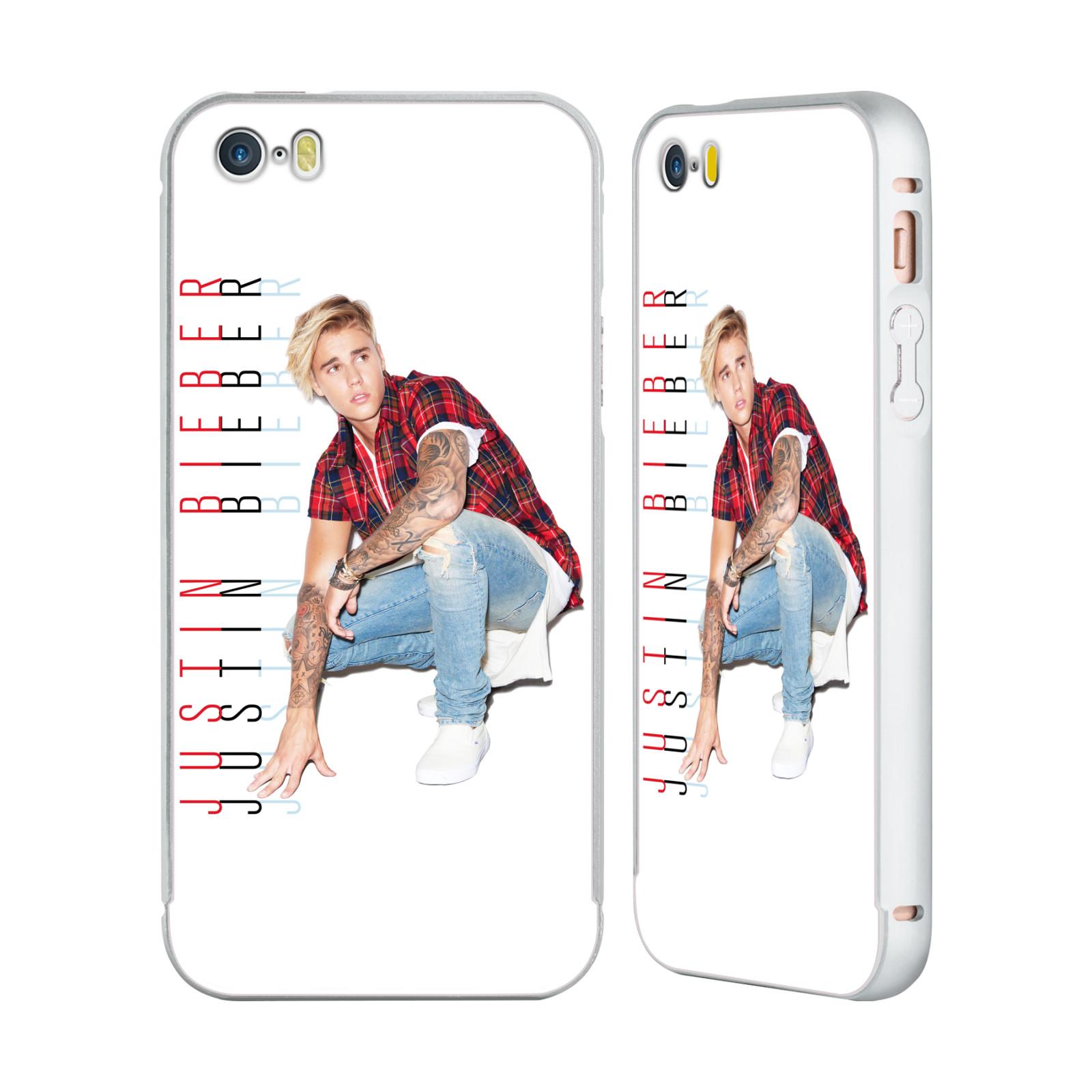 OFFICIAL-JUSTIN-BIEBER-KEY-ART-SILVER-BUMPER-SLIDER-CASE-FOR-APPLE-iPHONE-PHONES