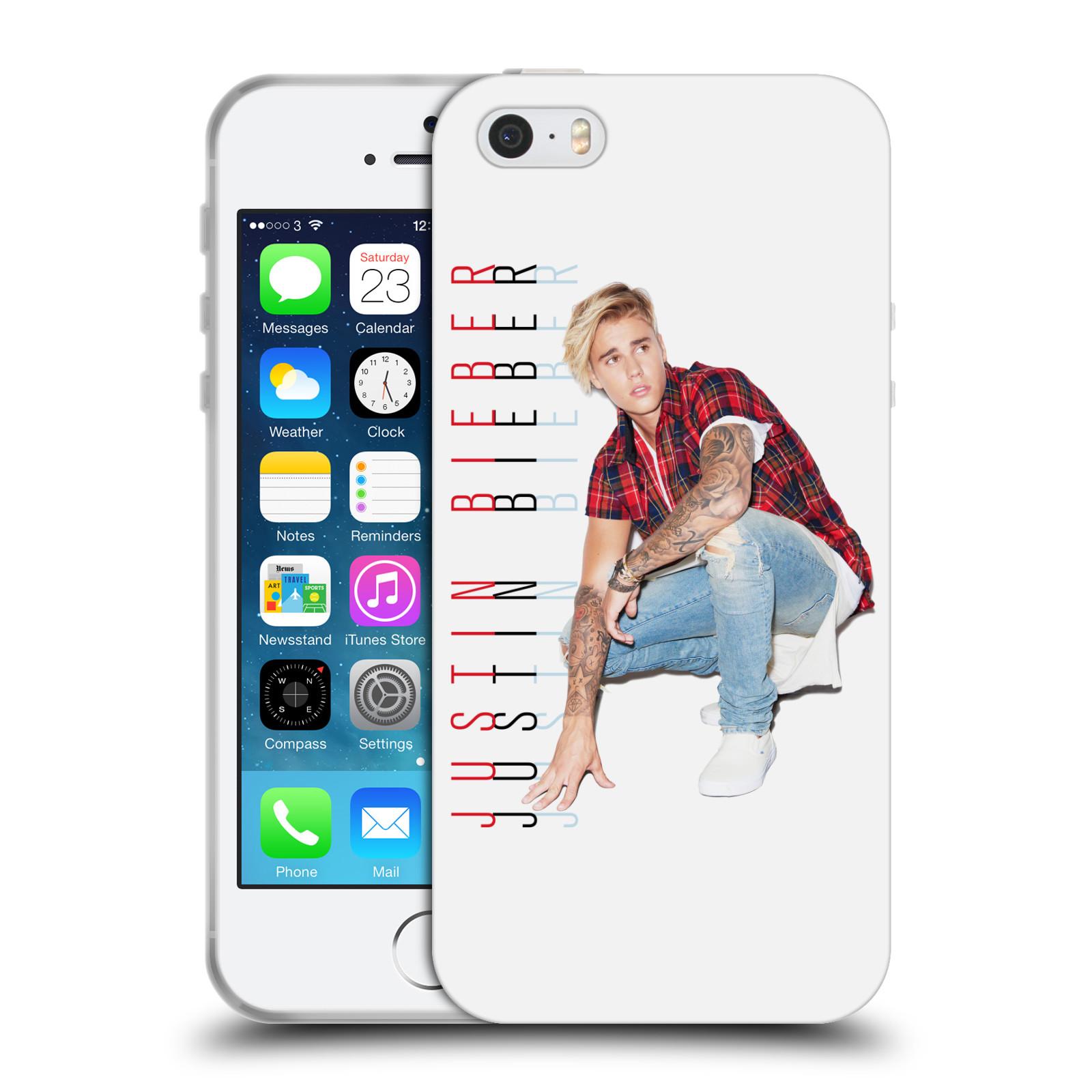 HEAD CASE silikonový obal na mobil Apple Iphone 5 / 5S originální potisk Justin Bieber Cropped