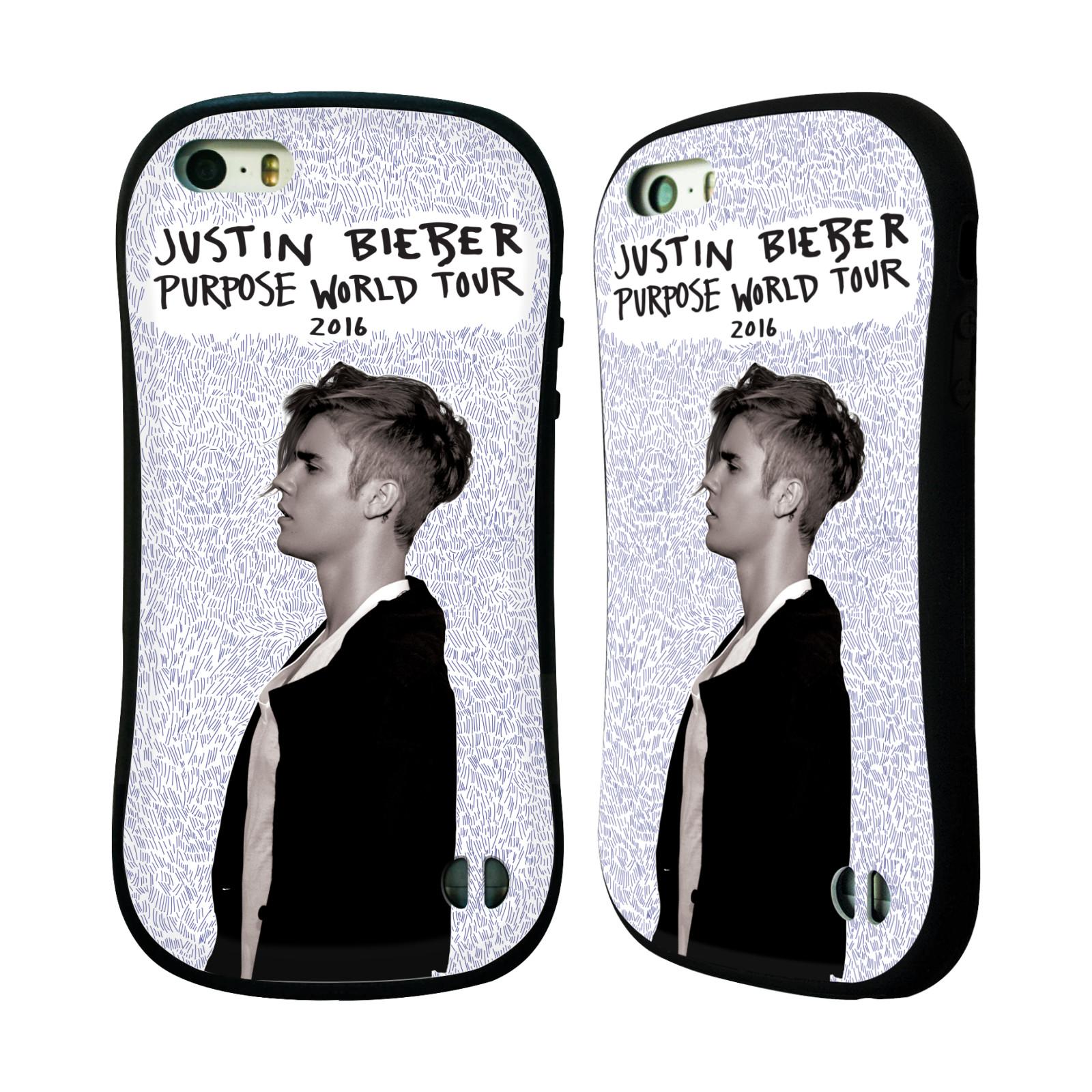 HEAD CASE silikon/plast odolný obal na mobil Apple Iphone 5 / 5S originální potisk Justin Bieber Purpose world tour