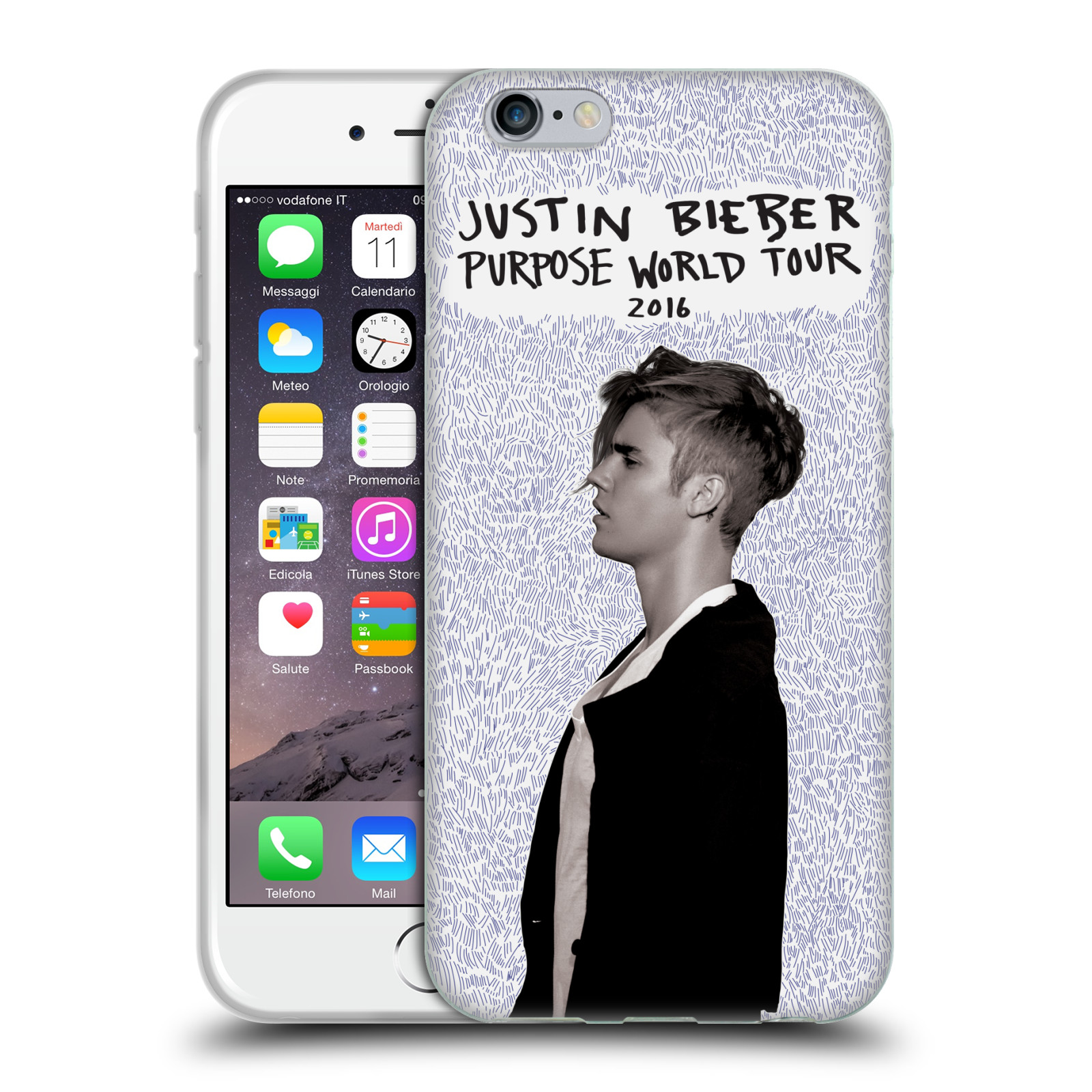 HEAD CASE silikonový obal na mobil Apple Iphone 6 / 6S originální potisk Justin Bieber Purpose world tour