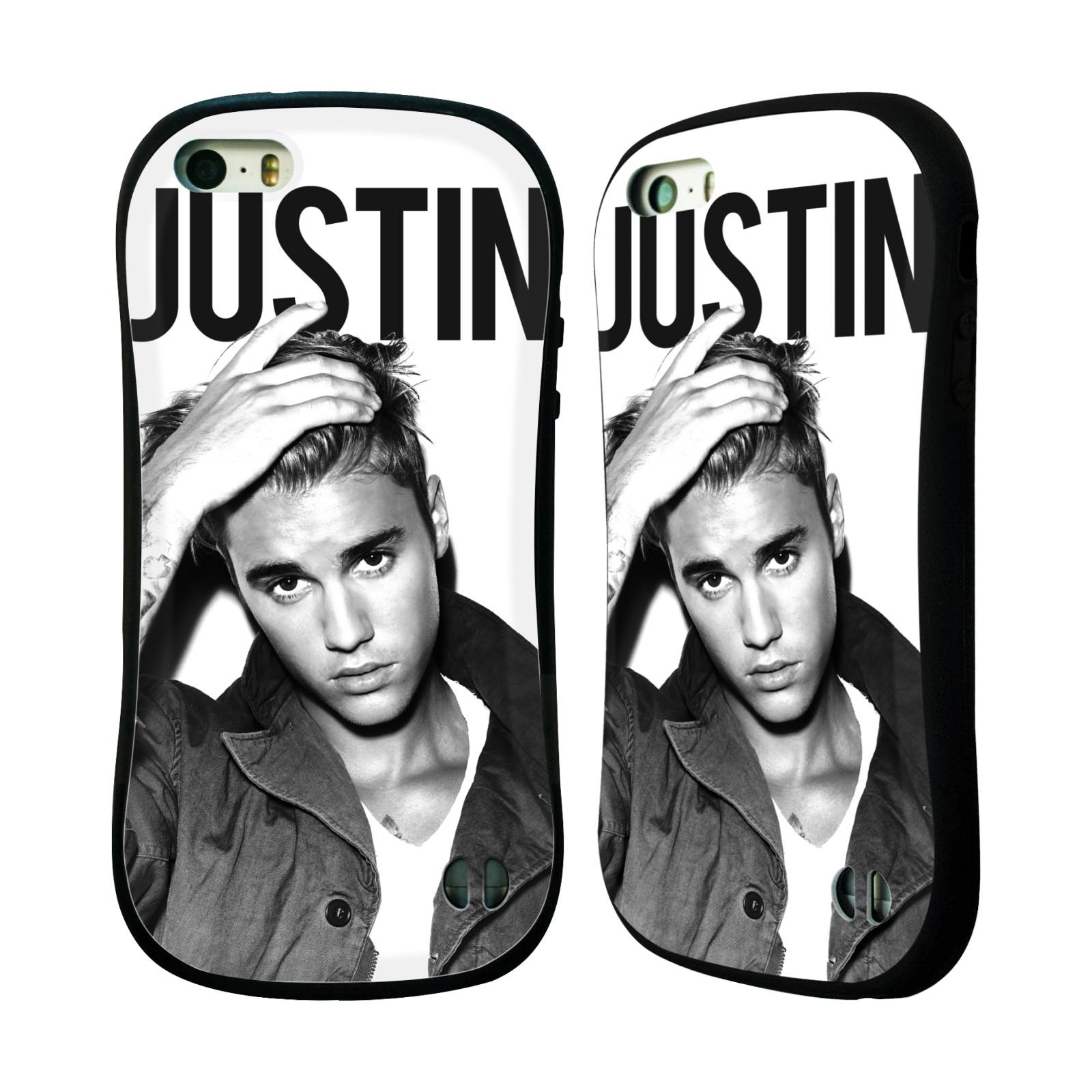HEAD CASE silikon/plast odolný obal na mobil Apple Iphone 5 / 5S originální potisk Justin Bieber póza černobílá