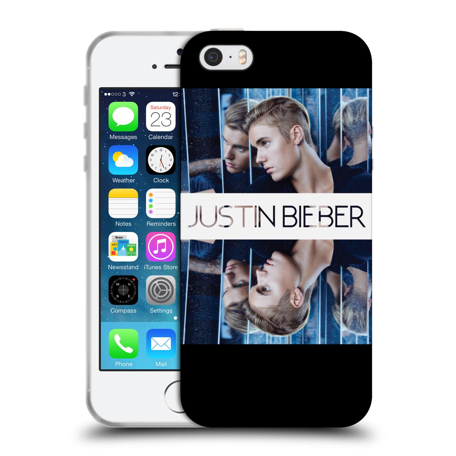 HEAD CASE silikonový obal na mobil Apple Iphone 5 / 5S originální potisk Justin Bieber Zrcadlo