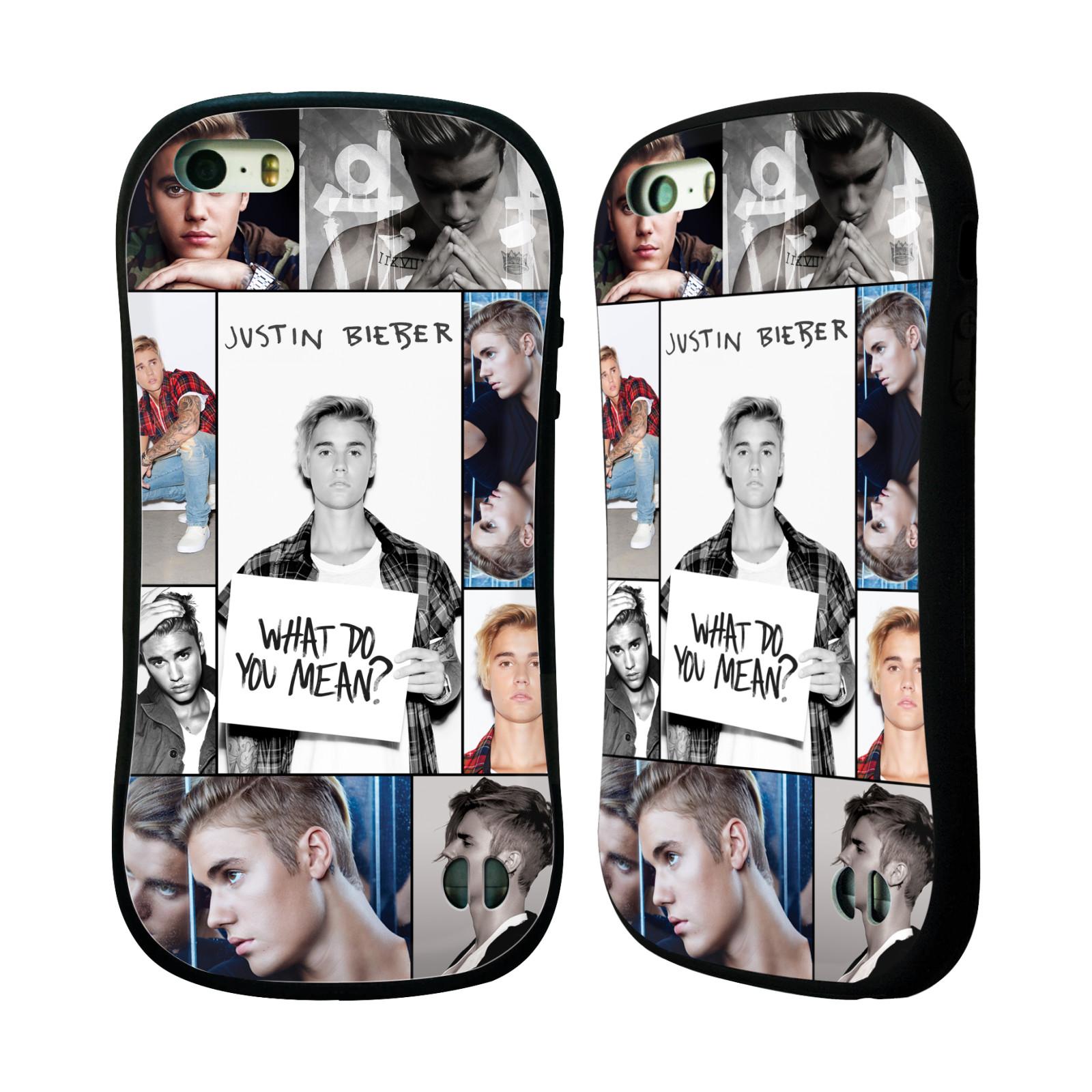 HEAD CASE silikon/plast odolný obal na mobil Apple Iphone 5 / 5S originální potisk Justin Bieber foto koláž