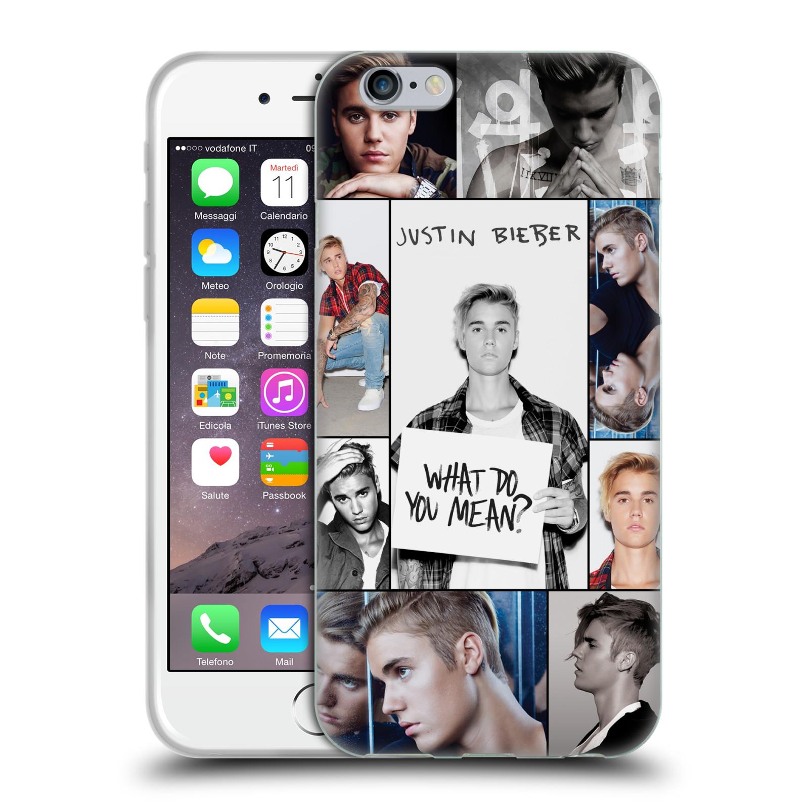 HEAD CASE silikonový obal na mobil Apple Iphone 6 / 6S originální potisk Justin Bieber foto koláž