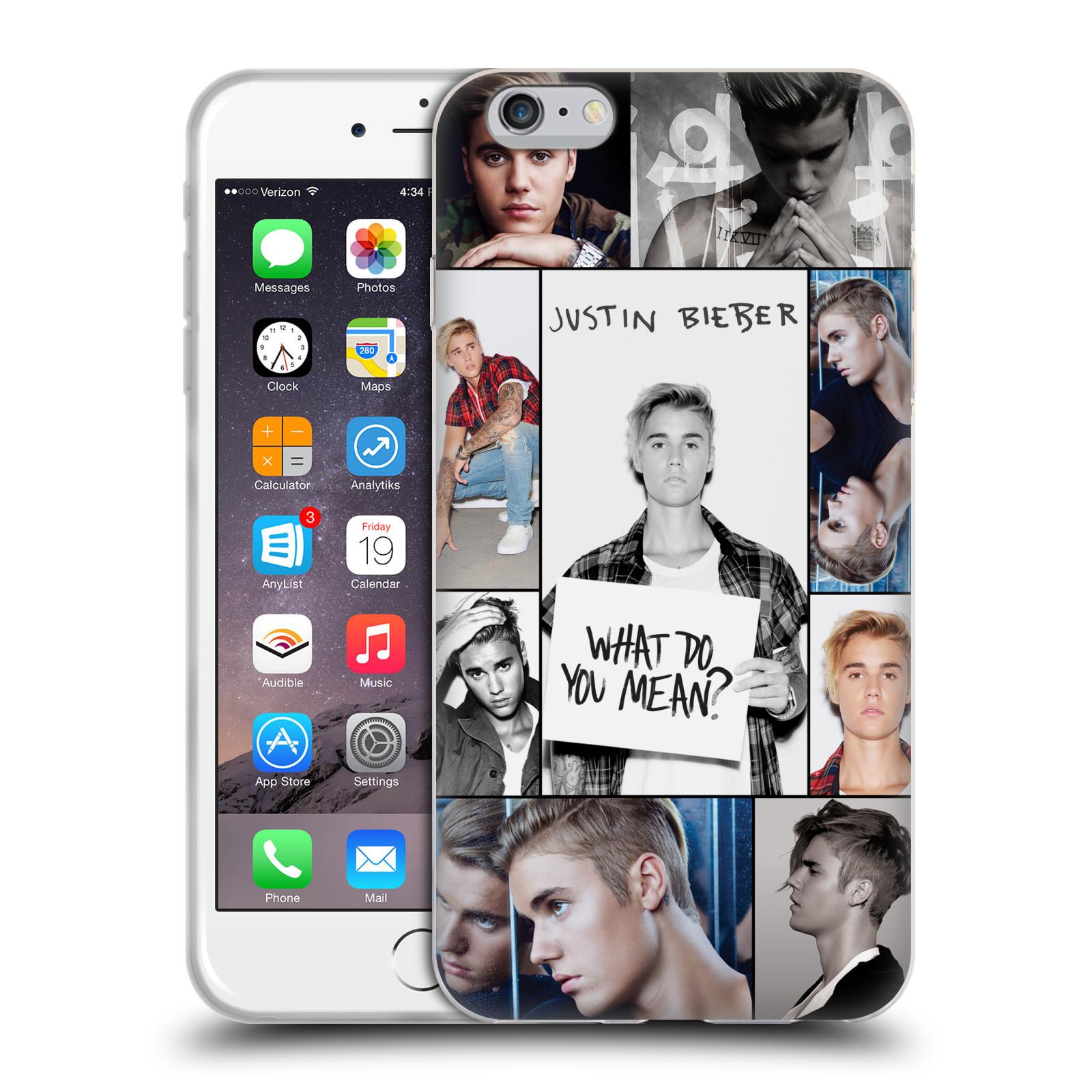 HEAD CASE silikonový obal na mobil Apple Iphone 6 PLUS / 6S PLUS originální potisk Justin Bieber foto koláž