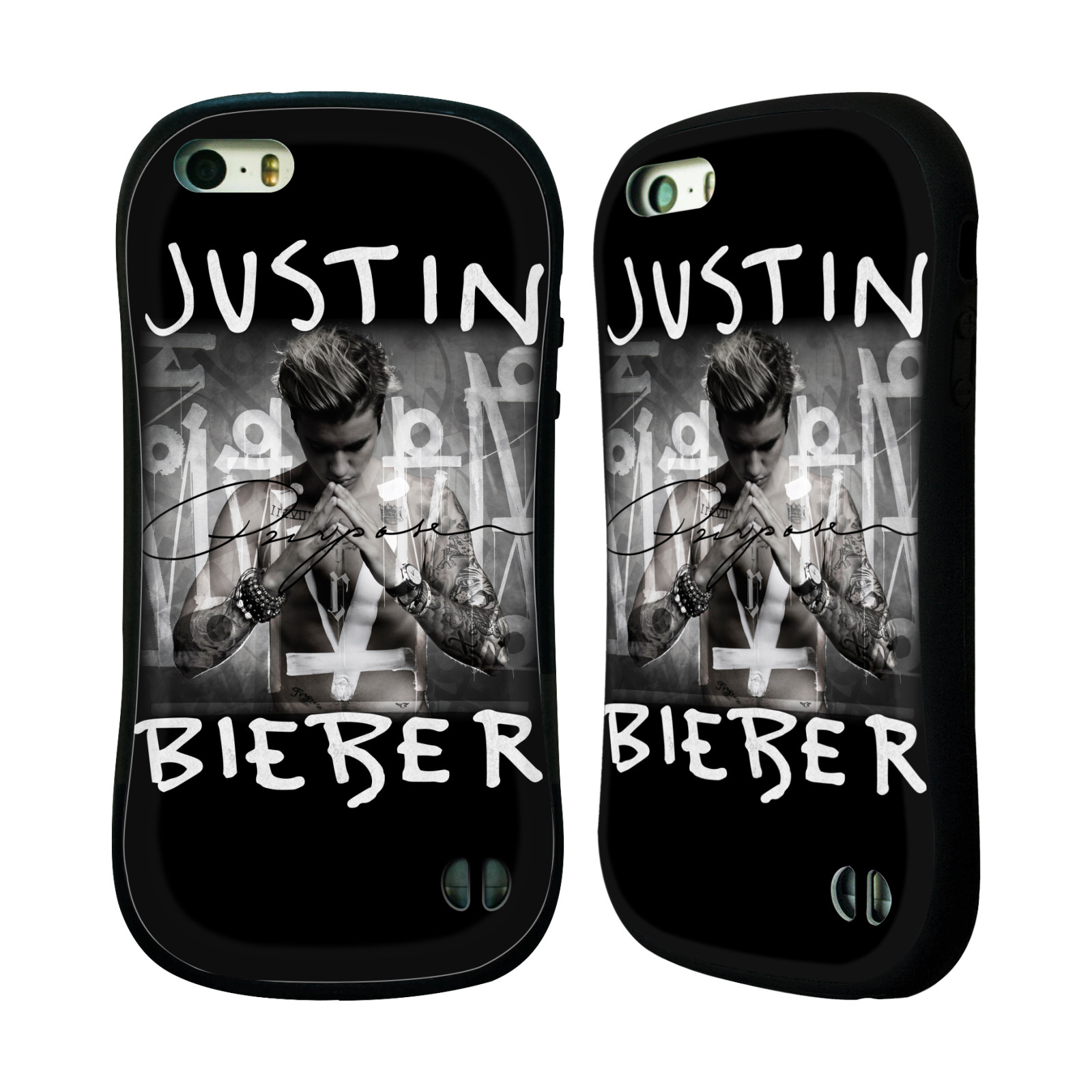 HEAD CASE silikon/plast odolný obal na mobil Apple Iphone 5 / 5S originální potisk Justin Bieber Purpose
