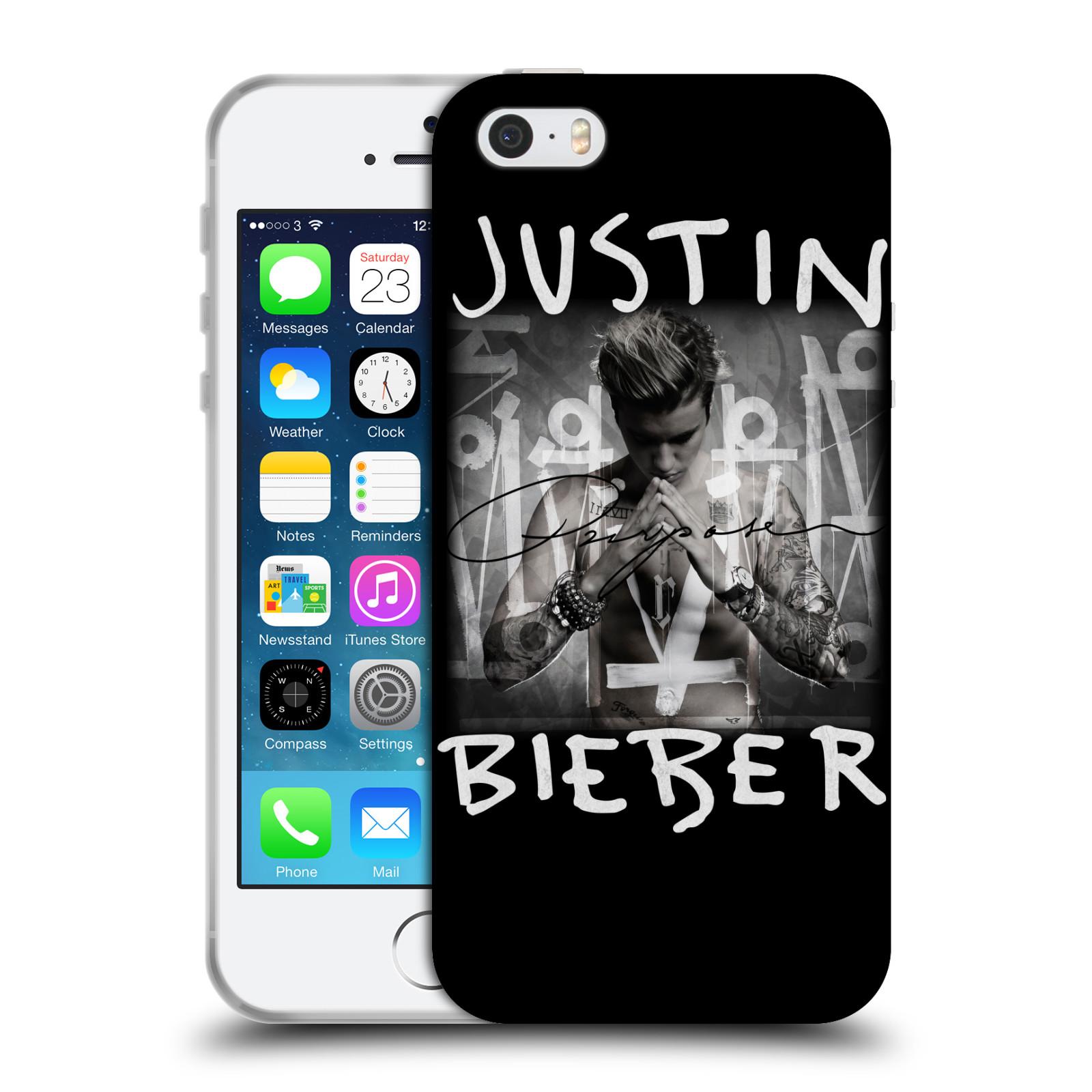 HEAD CASE silikonový obal na mobil Apple Iphone 5 / 5S originální potisk Justin Bieber Purpose