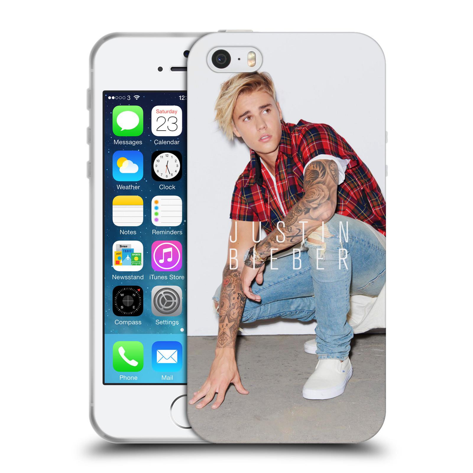 HEAD CASE silikonový obal na mobil Apple Iphone 5 / 5S originální potisk Justin Bieber Uncropped