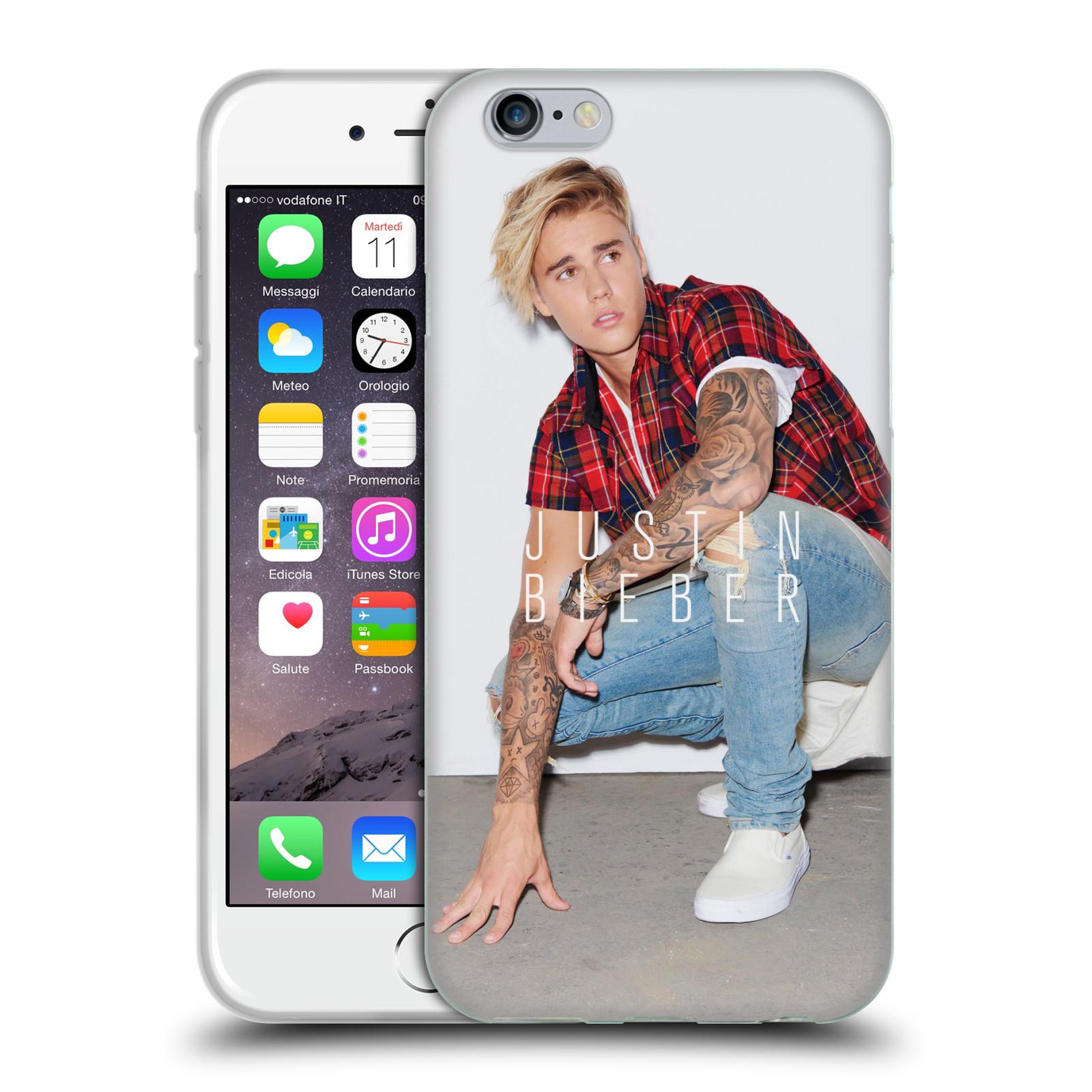 HEAD CASE silikonový obal na mobil Apple Iphone 6 / 6S originální potisk Justin Bieber Uncropped