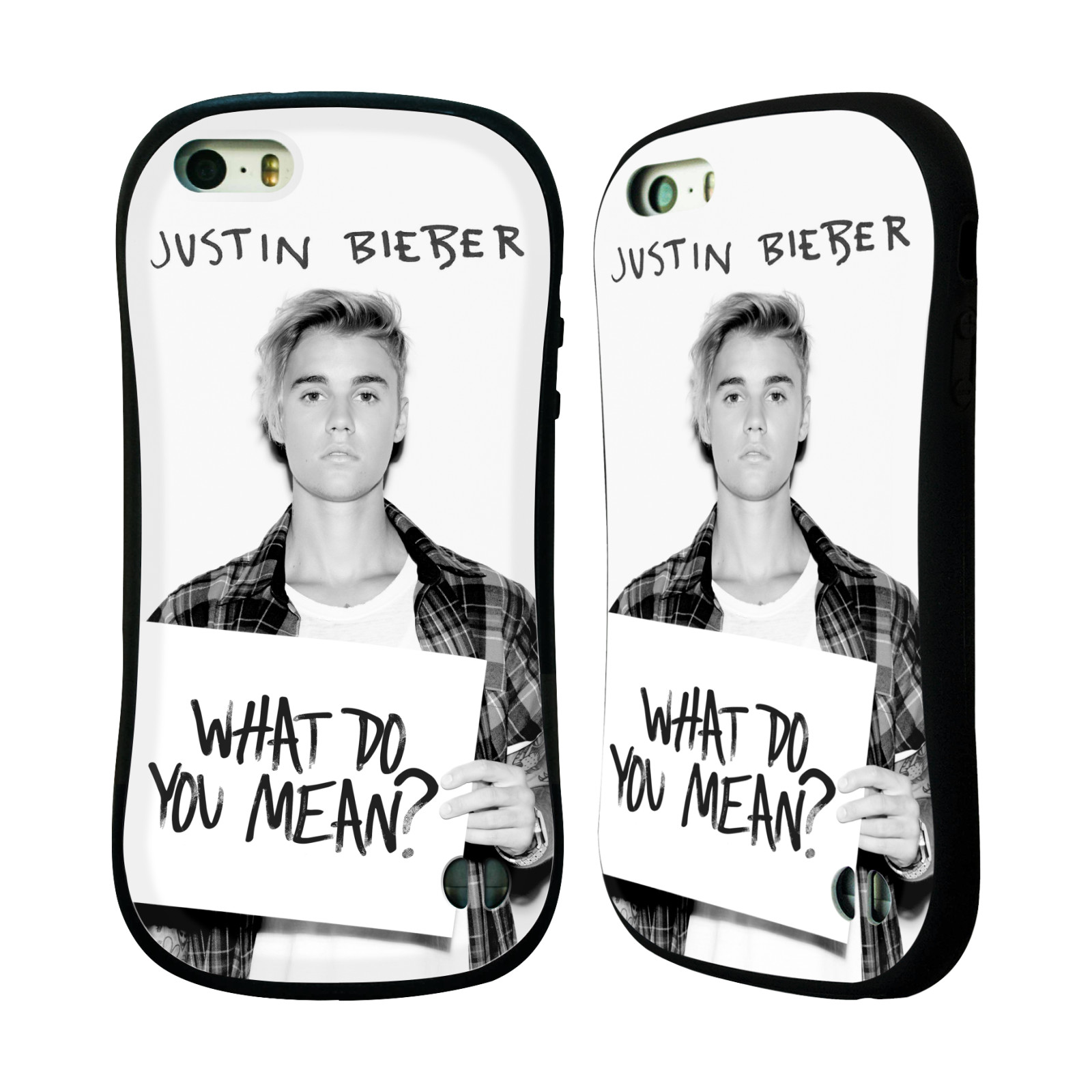 HEAD CASE silikon/plast odolný obal na mobil Apple Iphone 5 / 5S originální potisk Justin Bieber What do you mean