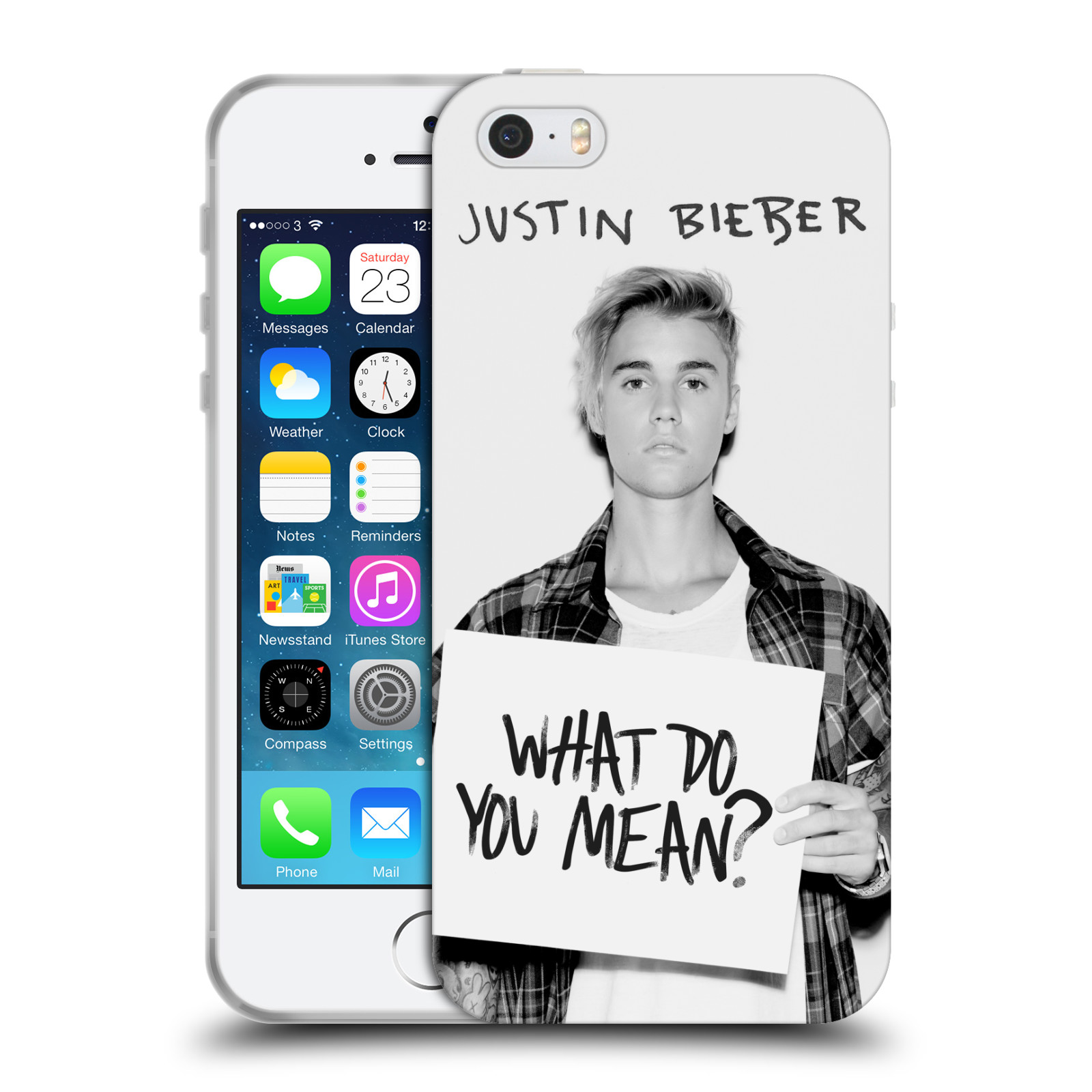 HEAD CASE silikonový obal na mobil Apple Iphone 5 / 5S originální potisk Justin Bieber What do you mean