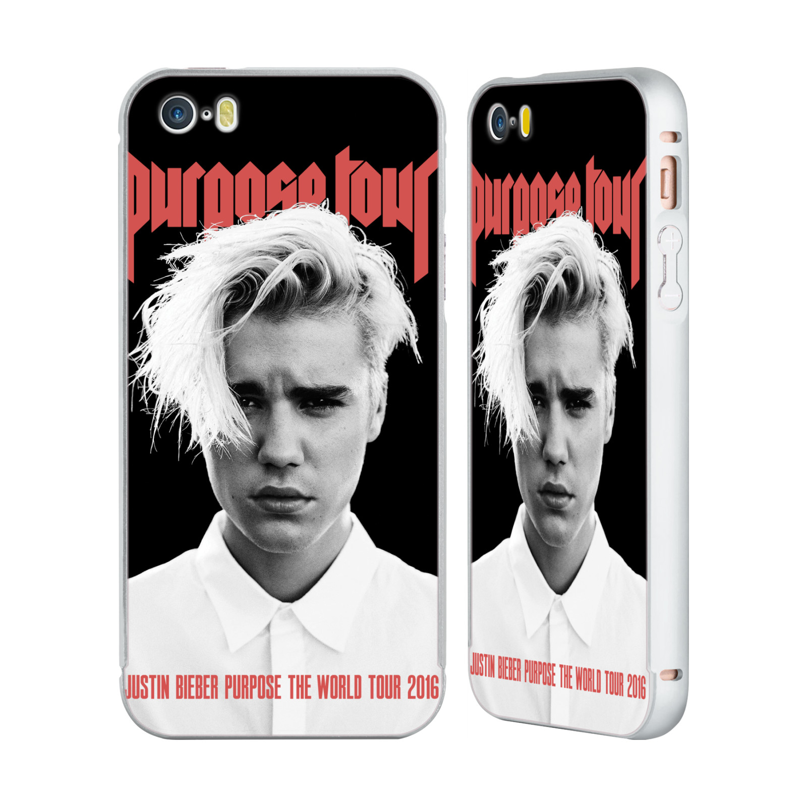 JUSTIN-BIEBER-TOUR-MERCHANDISE-SILVER-BUMPER-SLIDER-CASE-FOR-APPLE-iPHONE-PHONES