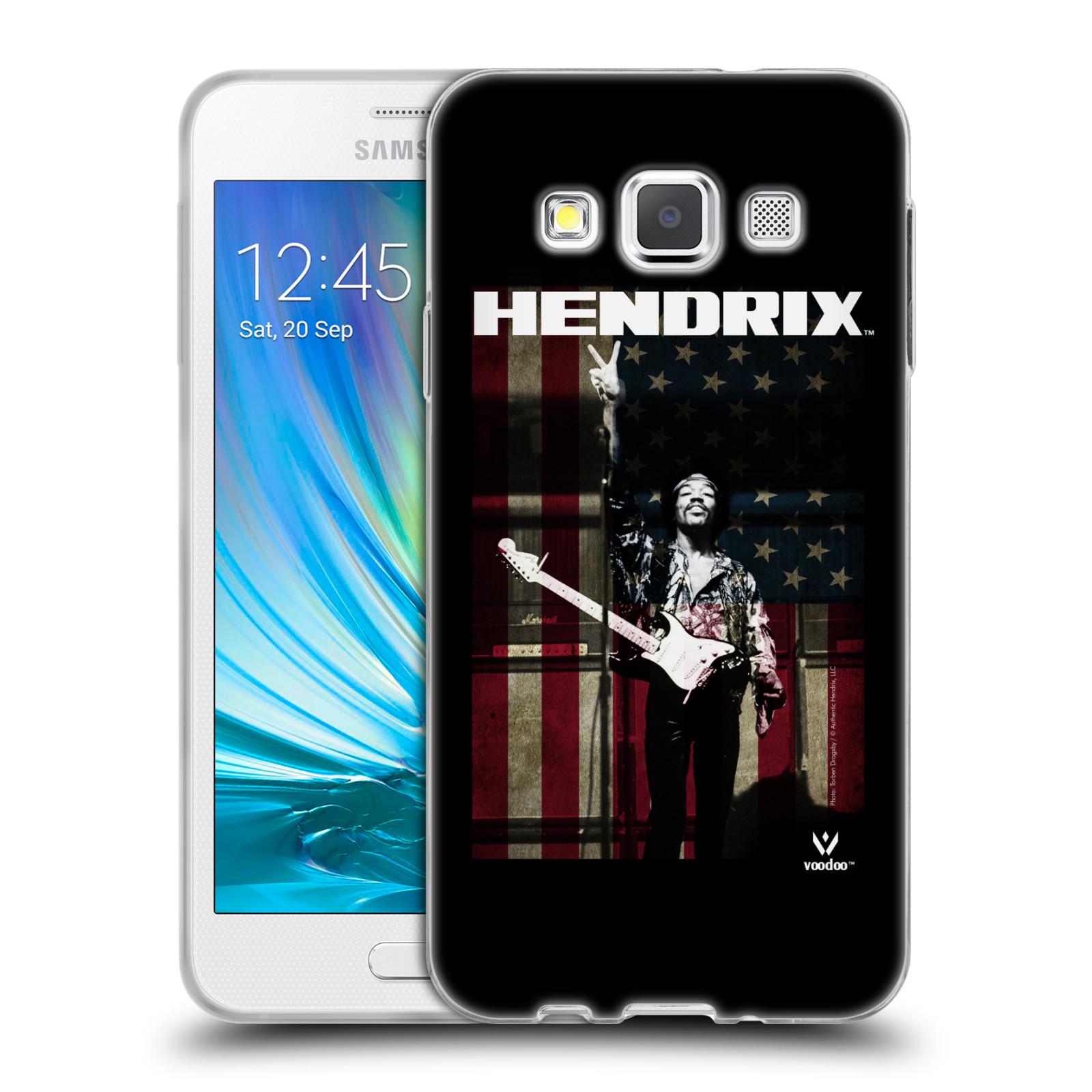 HEAD CASE silikonový obal na mobil Samsung Galaxy A3 (A300) Jimi Hendrix Americká vlajka