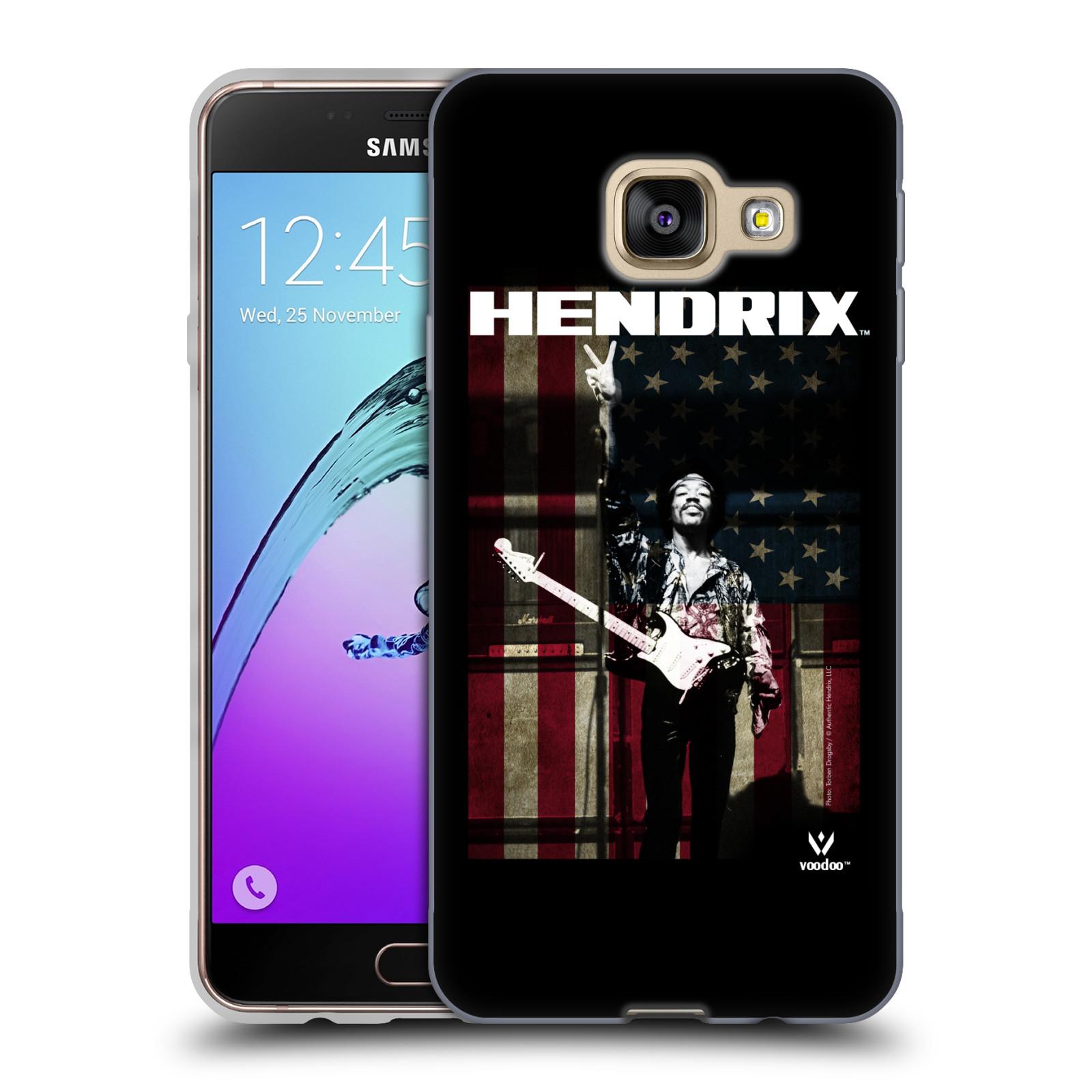 HEAD CASE silikonový obal na mobil Samsung Galaxy A3 2016 (A310) Jimi Hendrix Americká vlajka