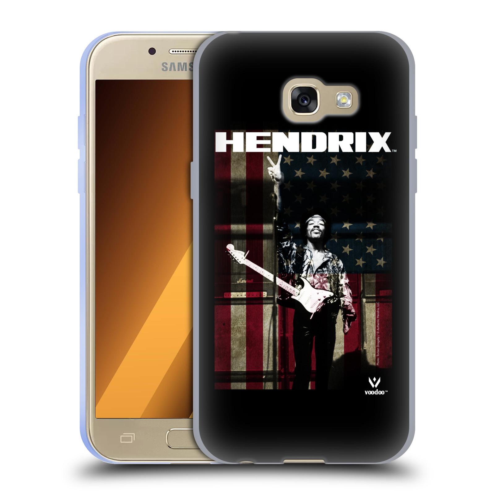 HEAD CASE silikonový obal na mobil Samsung Galaxy A3 2017 (A320) Jimi Hendrix Americká vlajka