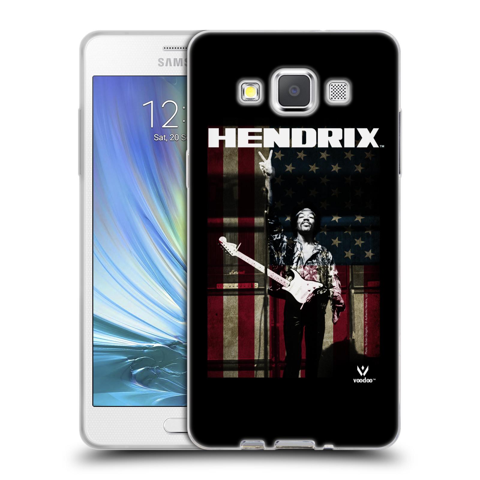 HEAD CASE silikonový obal na mobil Samsung Galaxy A5 (A500) Jimi Hendrix Americká vlajka