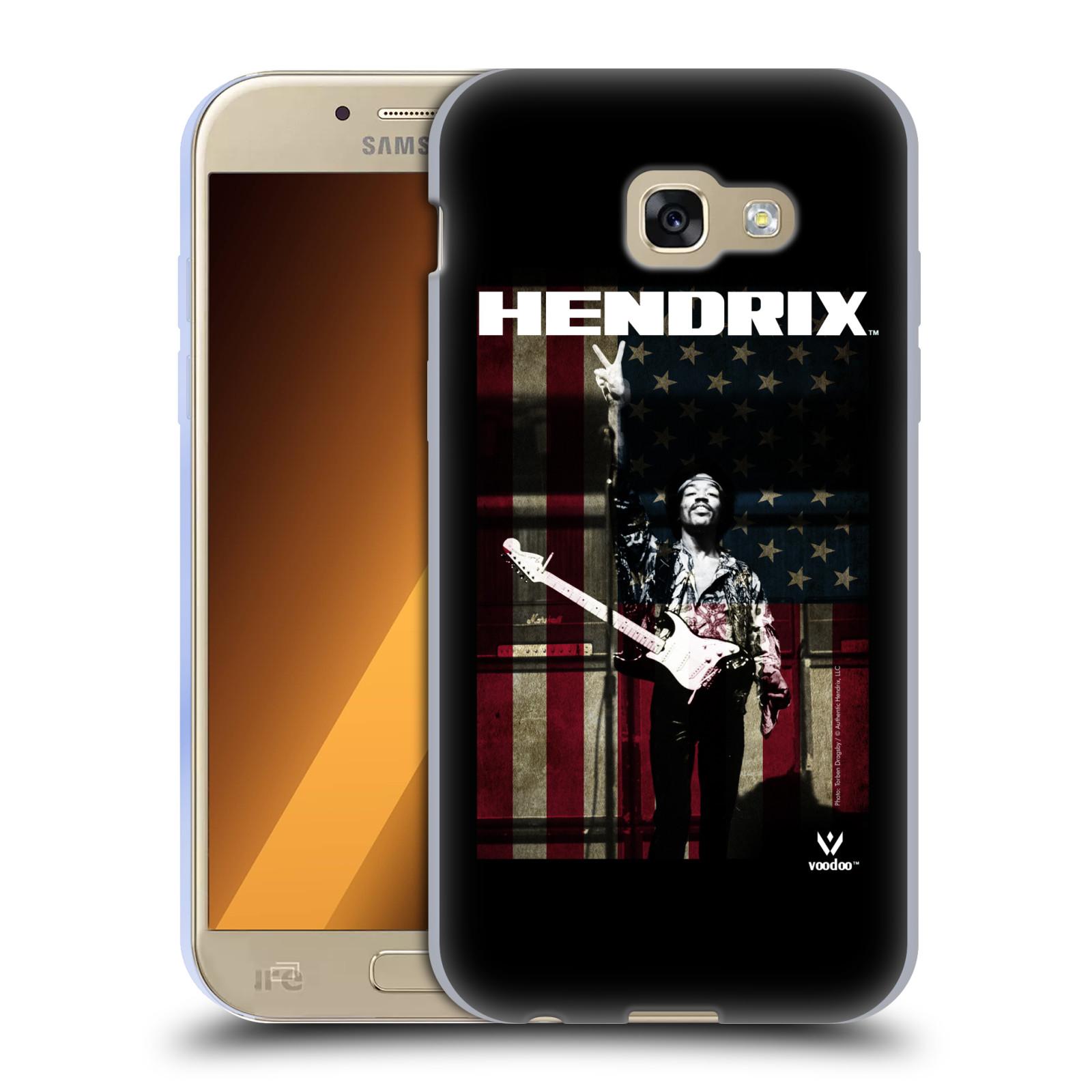 HEAD CASE silikonový obal na mobil Samsung Galaxy A5 2017 (A520) Jimi Hendrix Americká vlajka