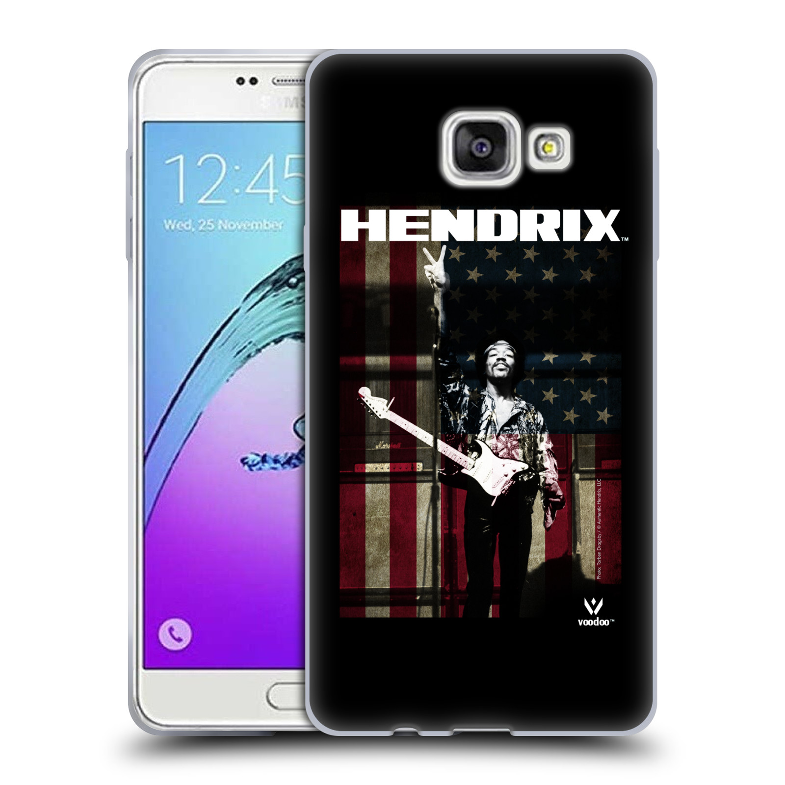 HEAD CASE silikonový obal na mobil Samsung Galaxy A7 2017 (A720) Jimi Hendrix Americká vlajka