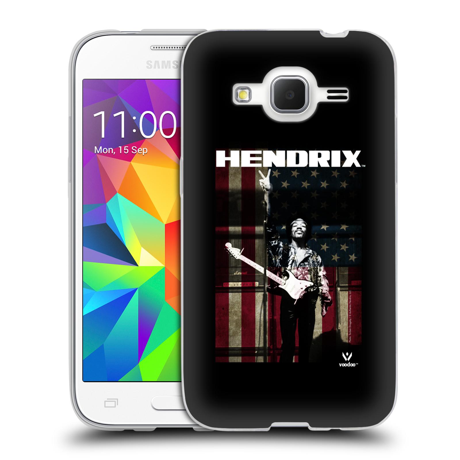 HEAD CASE silikonový obal na mobil Samsung Galaxy Core Prime (G360) Jimi Hendrix Americká vlajka