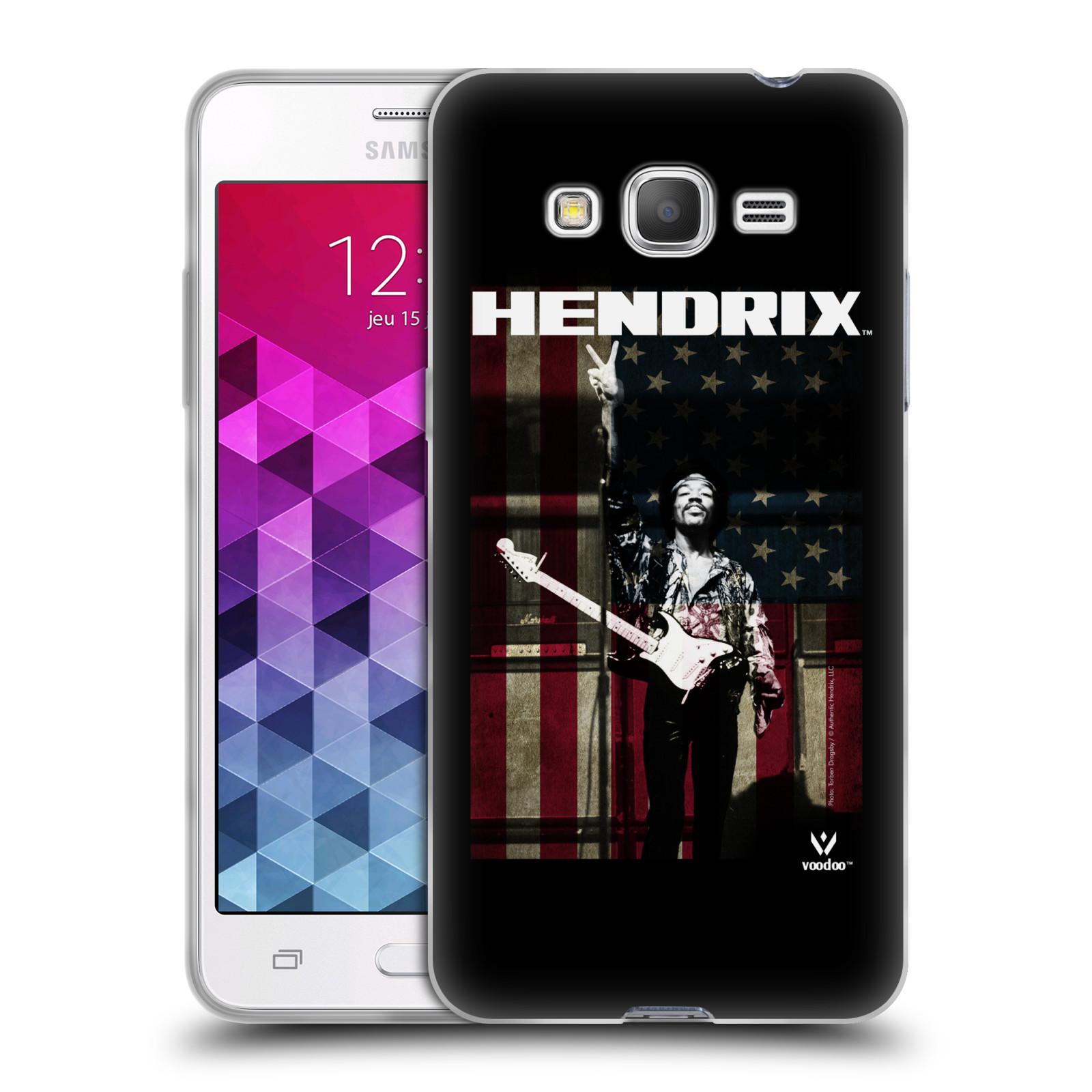 HEAD CASE silikonový obal na mobil Samsung Galaxy Grand Prime Jimi Hendrix Americká vlajka