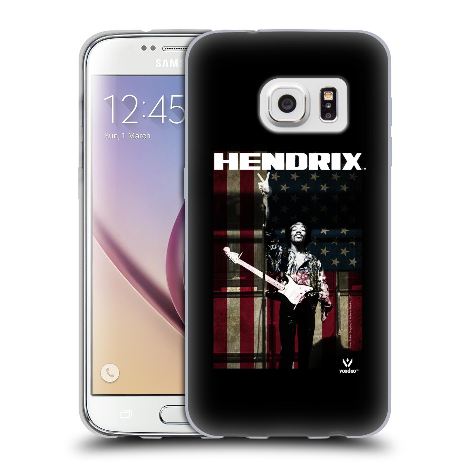 HEAD CASE silikonový obal na mobil Samsung Galaxy S7 Jimi Hendrix Americká vlajka
