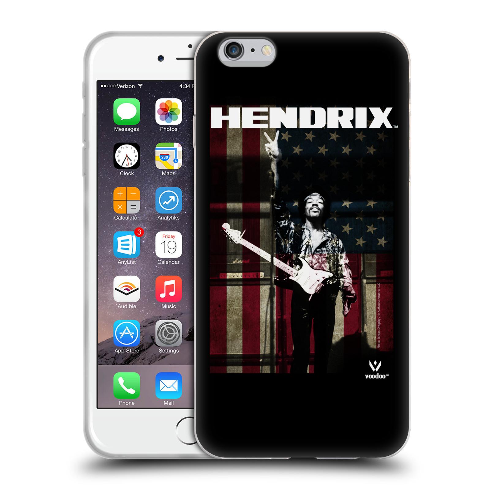 HEAD CASE silikonový obal na mobil Apple Iphone 6/6S PLUS Jimi Hendrix Americká vlajka
